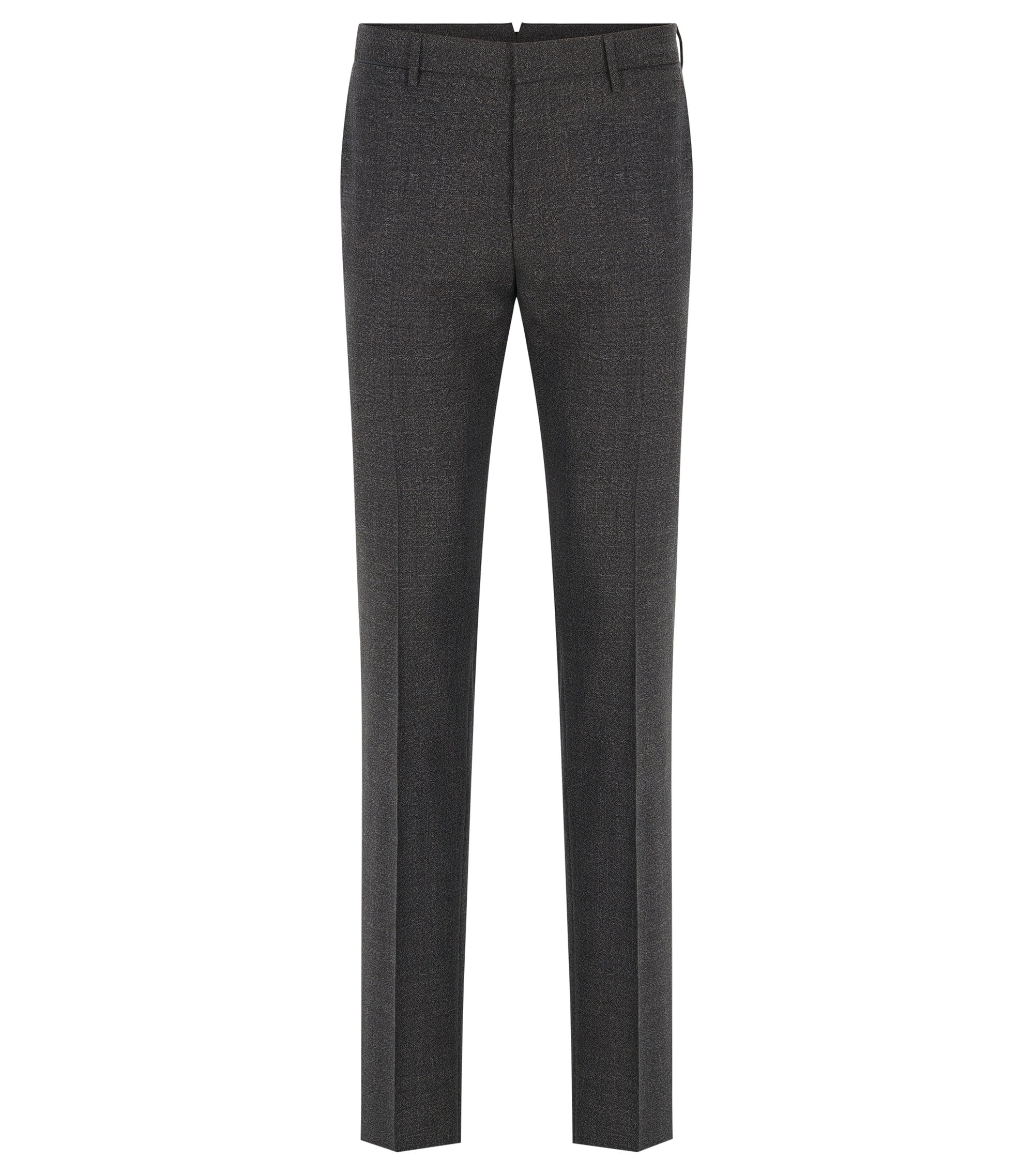 Virgin Wool Dress Pant, Slim Fit | T-Bloom, Open Grey