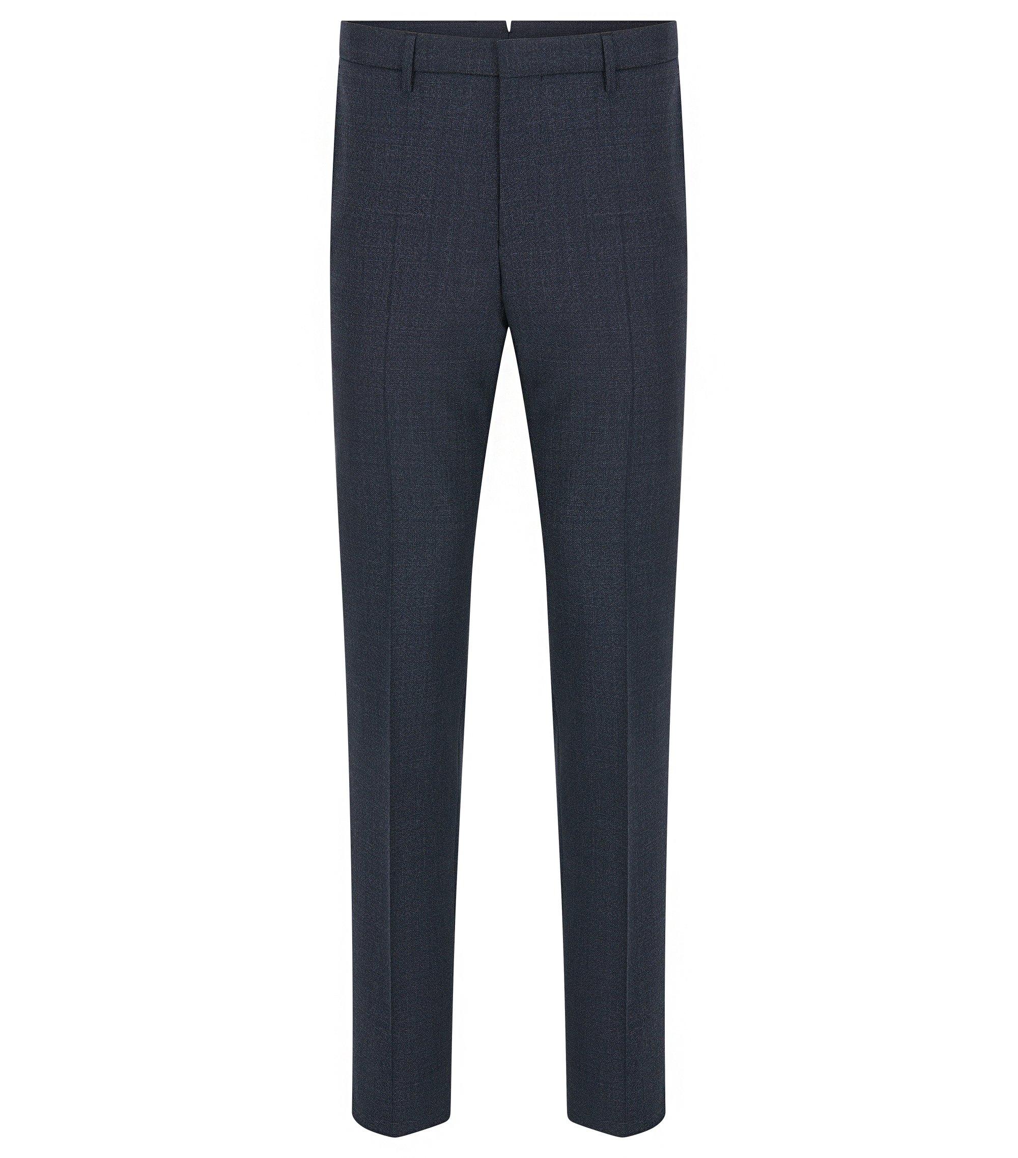 Virgin Wool Dress Pant, Slim Fit | T-Bloom, Dark Blue