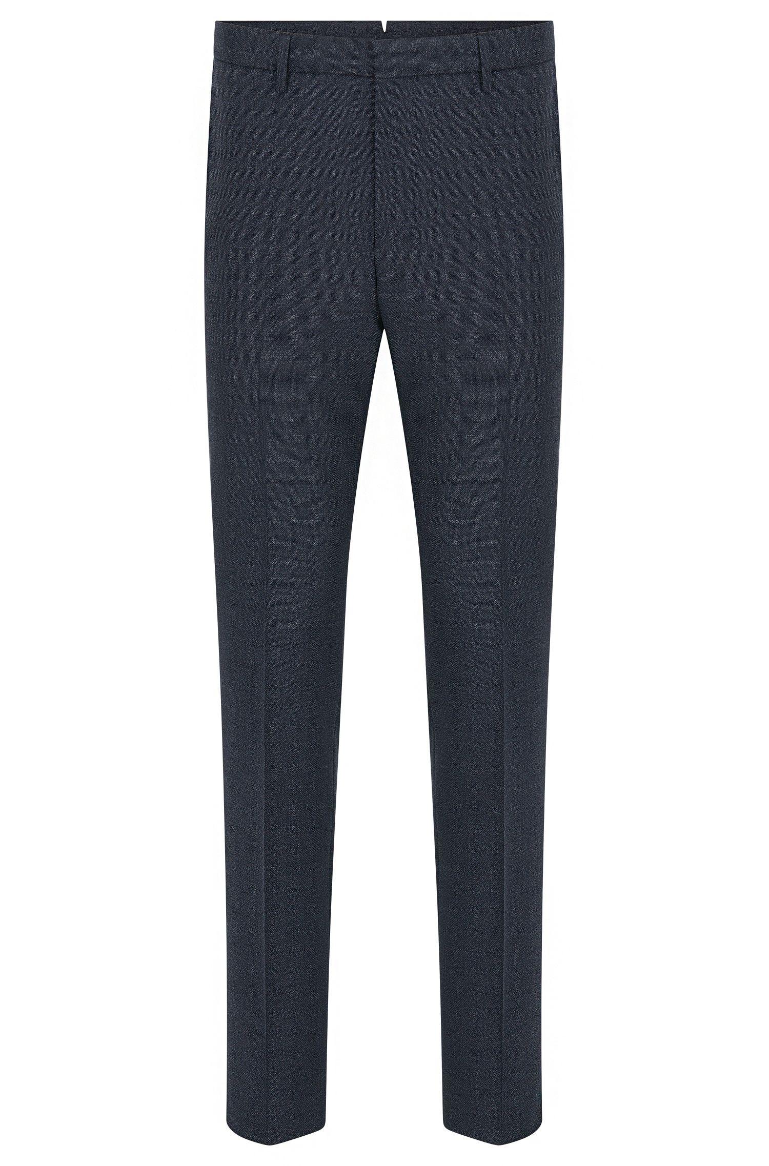 Virgin Wool Dress Pant, Slim Fit | T-Bloom