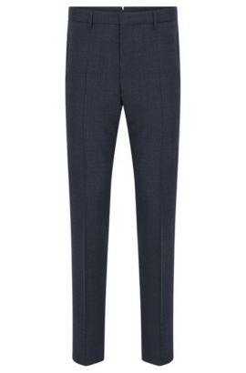 'T-Bloom' | Slim Fit, Virgin Wool Dress Pants, Dark Blue