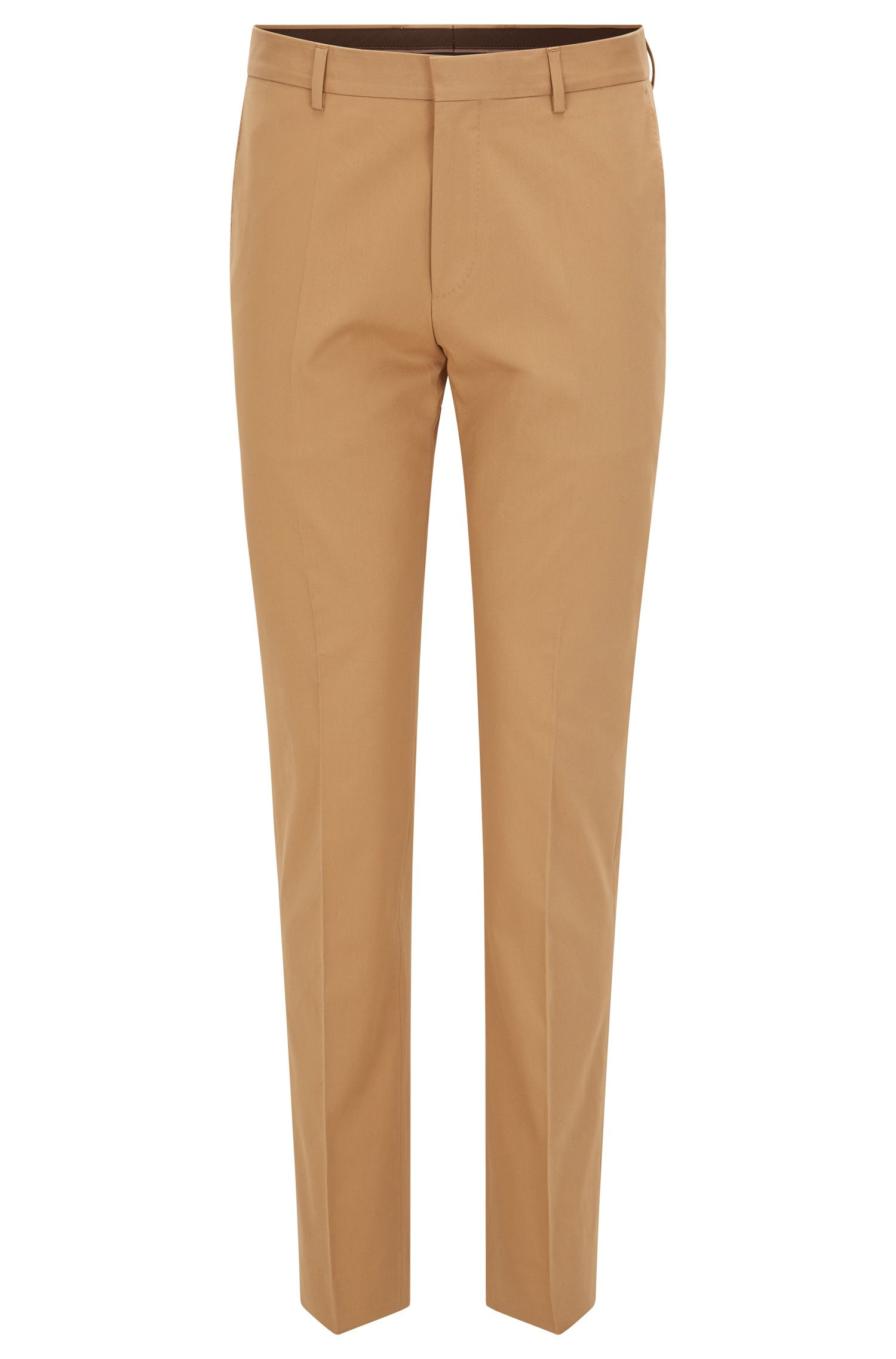 Stretch Cotton Dress Pant, Slim Fit | Genesis, Beige