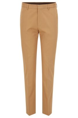 'Genesis' | Slim Fit, Stretch Cotton Dress Pants, Beige