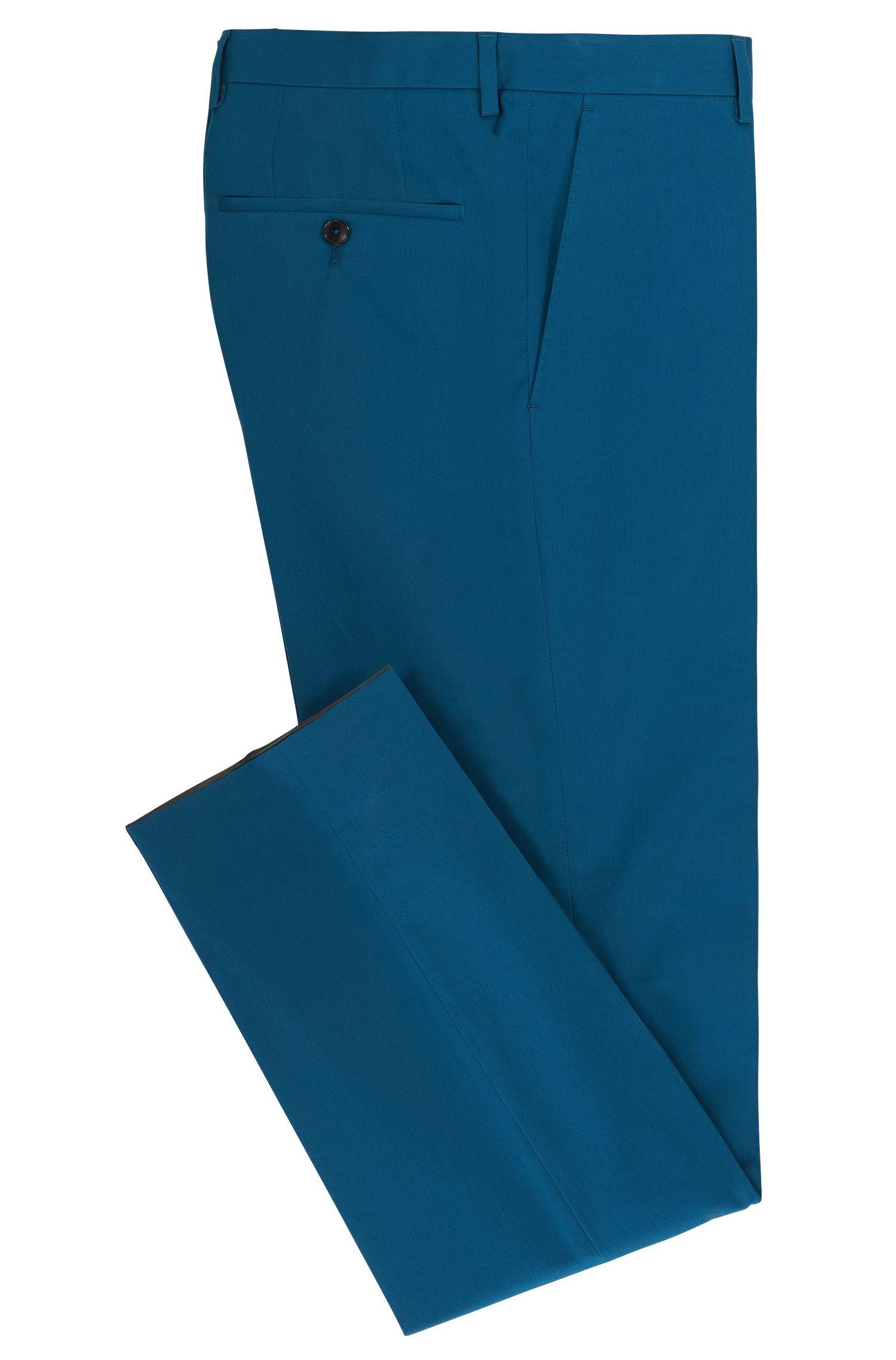 Stretch Cotton Dress Pant, Slim Fit | Genesis, Turquoise