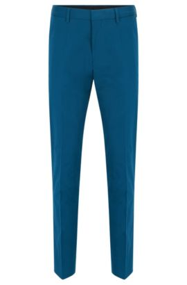 'Genesis' | Slim Fit, Stretch Cotton Dress Pants, Turquoise