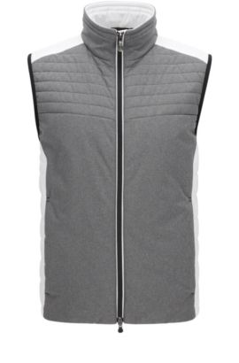 'Vhero' | Colorblock Vest, White