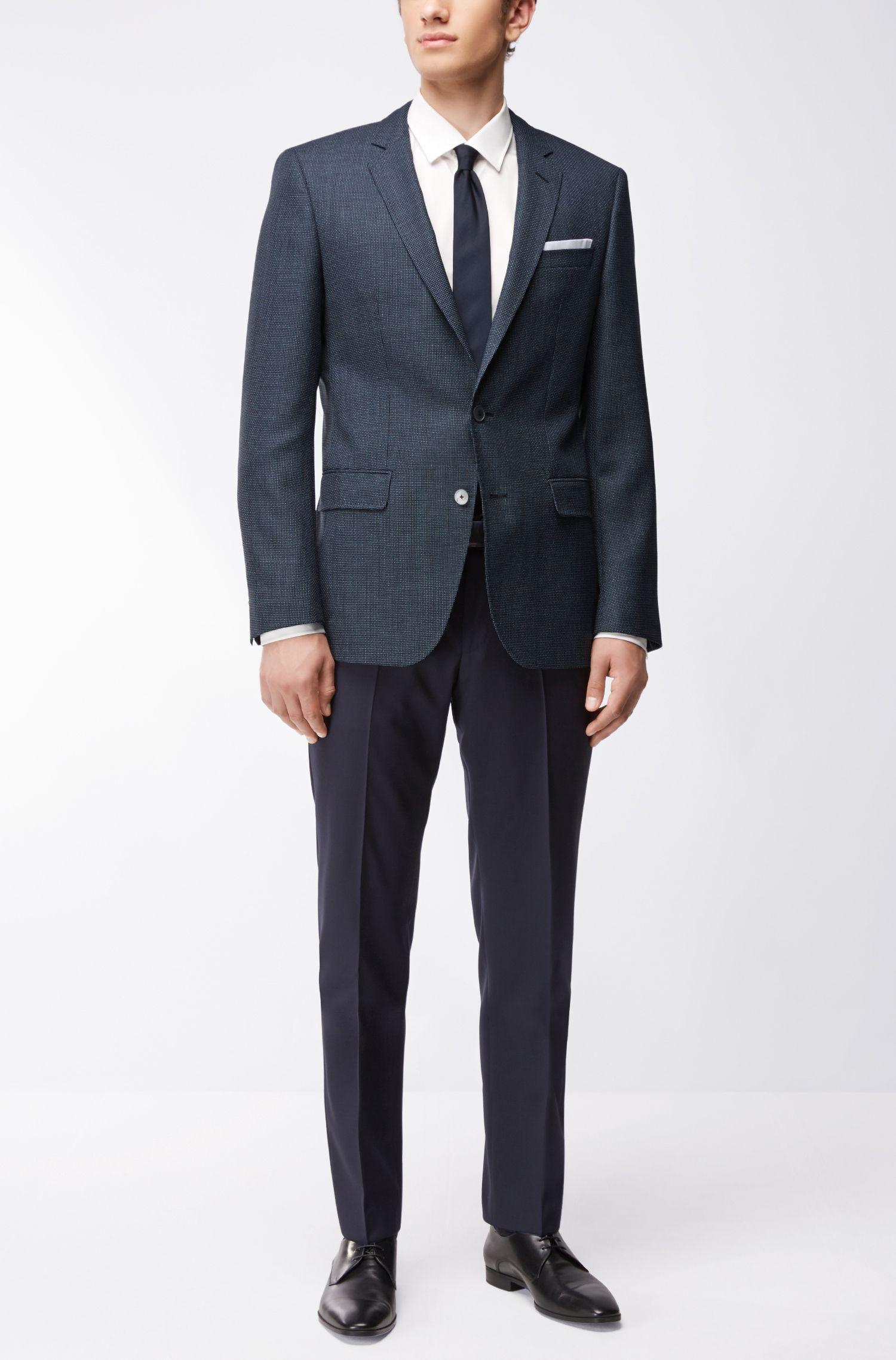 Nailhead Virgin Wool Sport Coat, Slim Fit | Hutsons