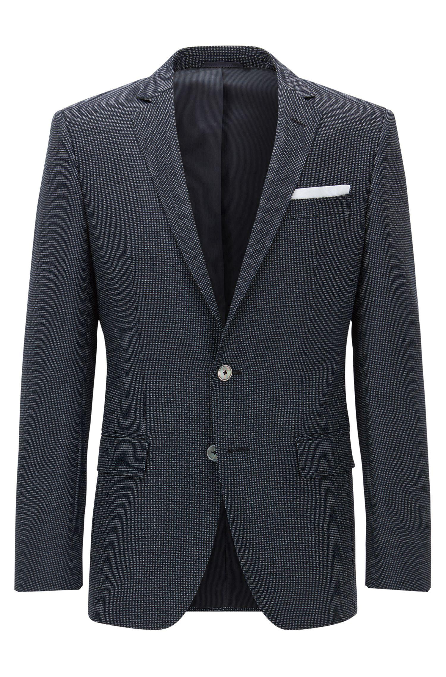'Hutsons' | Slim Fit, Nailhead Virgin Wool Sport Coat