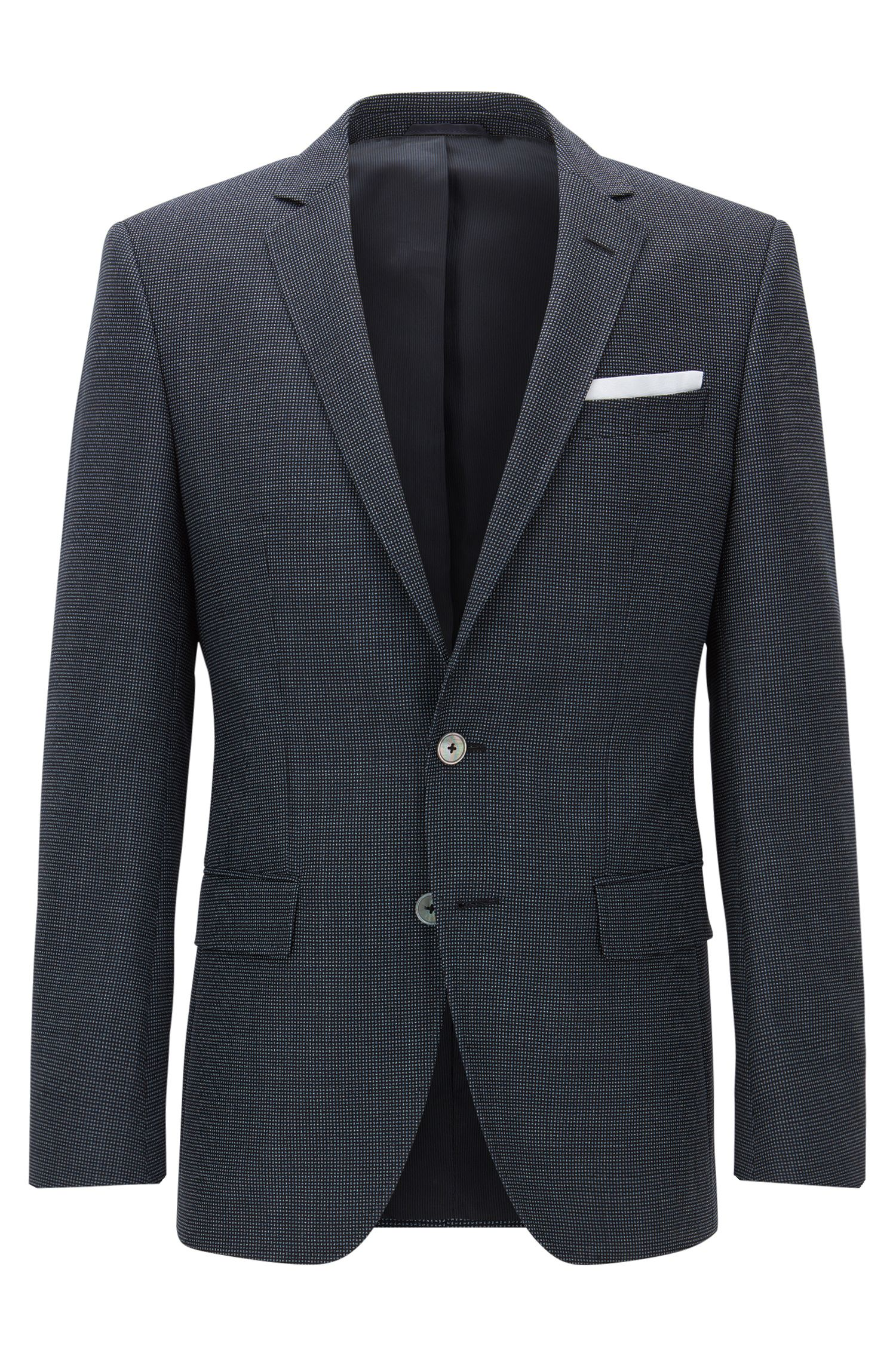 Nailhead Virgin Wool Sport Coat, Slim Fit | Hutsons