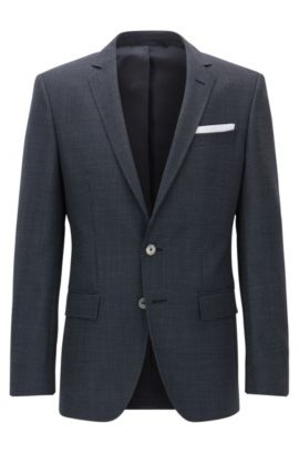 'Hutsons' | Slim Fit, Nailhead Virgin Wool Sport Coat, Dark Blue