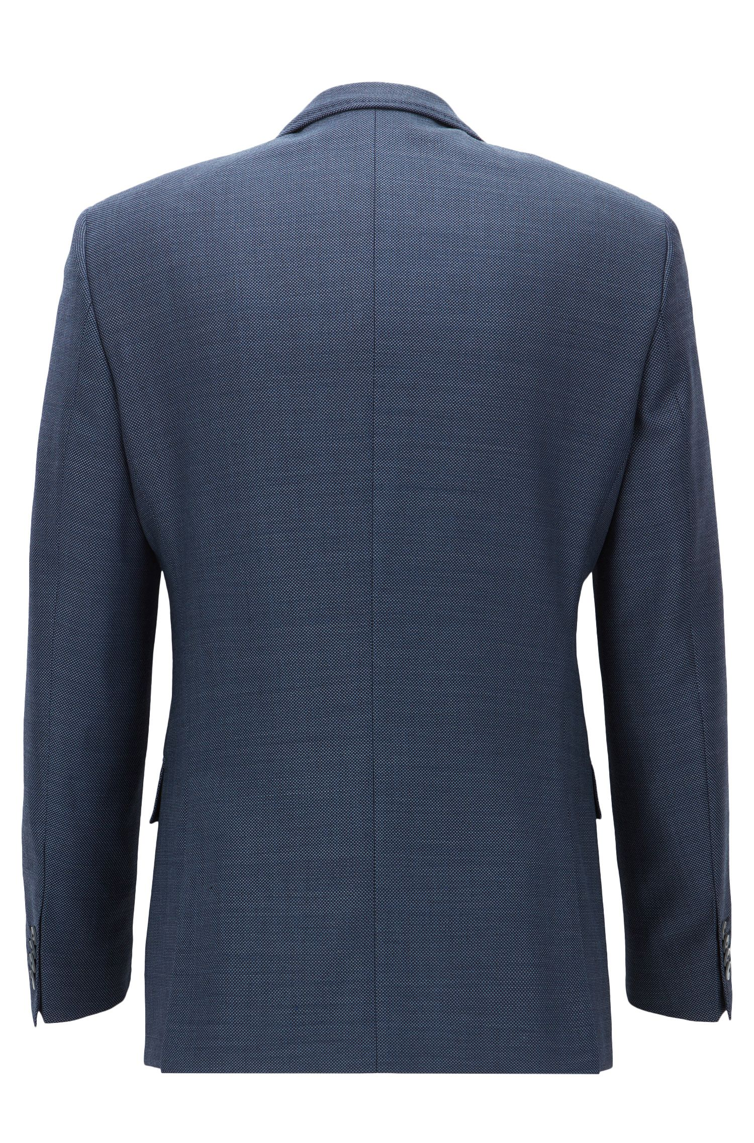 Italian Virgin Wool Sport Coat, Slim Fit | Hutsons, Open Blue