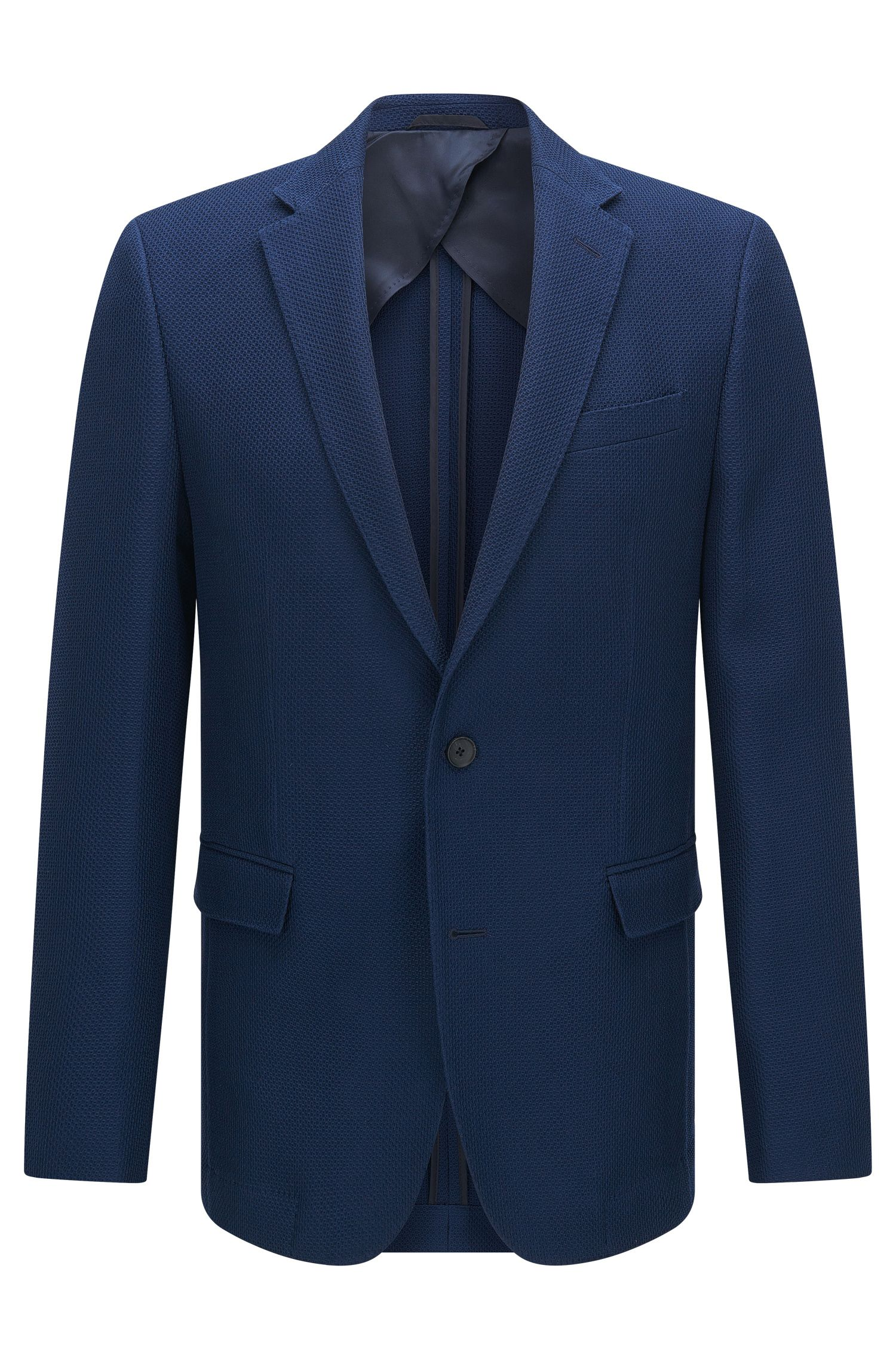 Virgin Wool Cotton Sport Coat, Slim Fit | Nobis