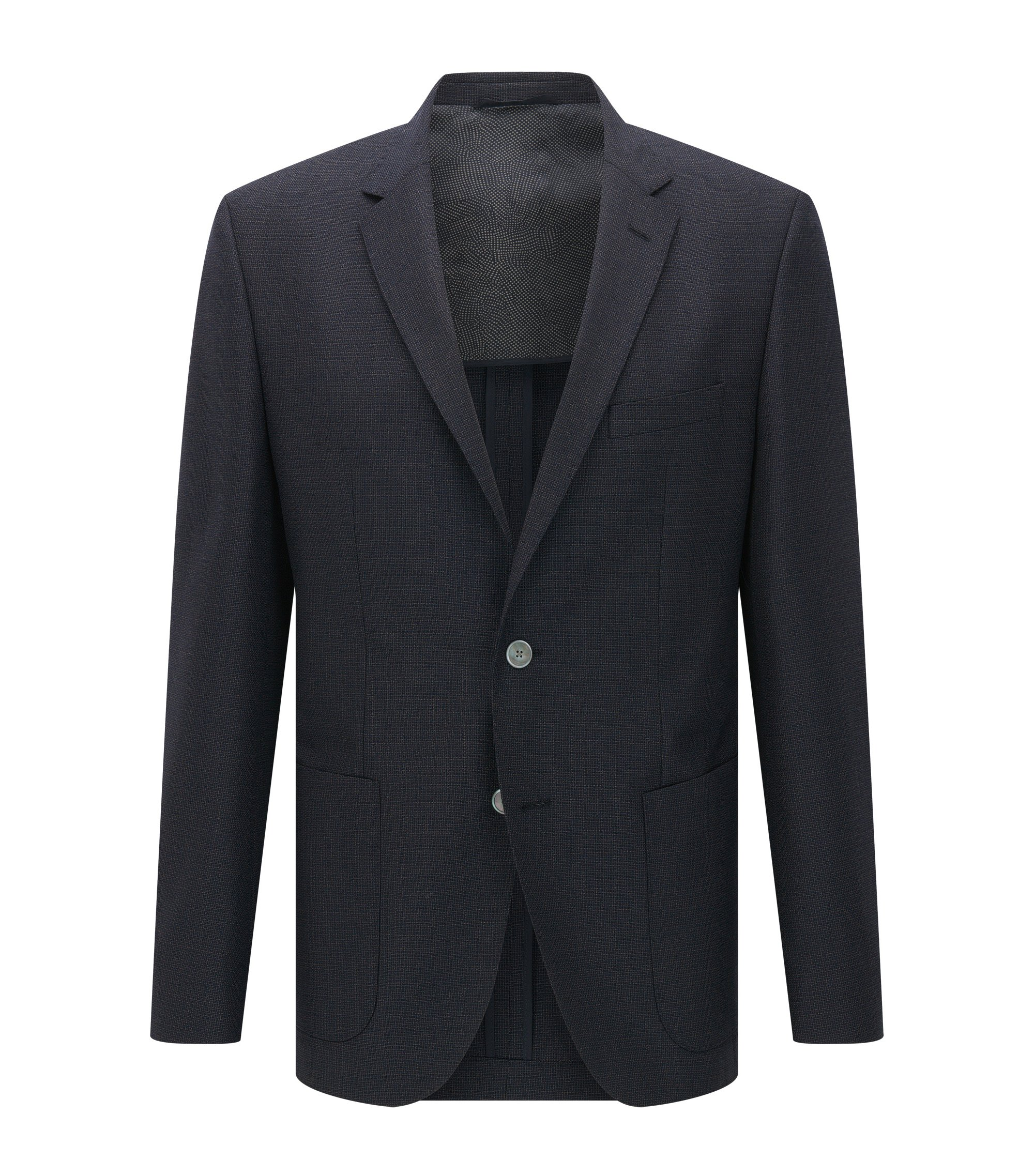 Italian Virgin Wool Sport Coat, Regular Fit | Janson, Dark Blue