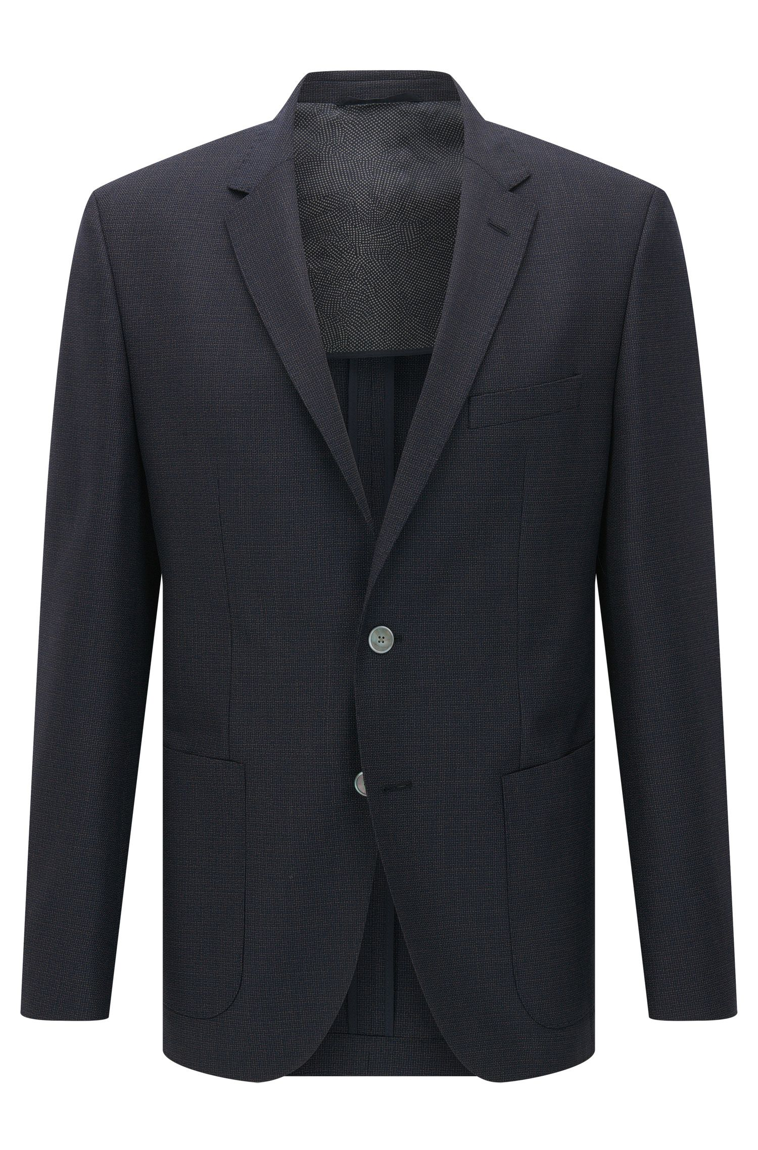 Italian Super 120 Virgin Wool Sport Coat, Regular Fit | Janson