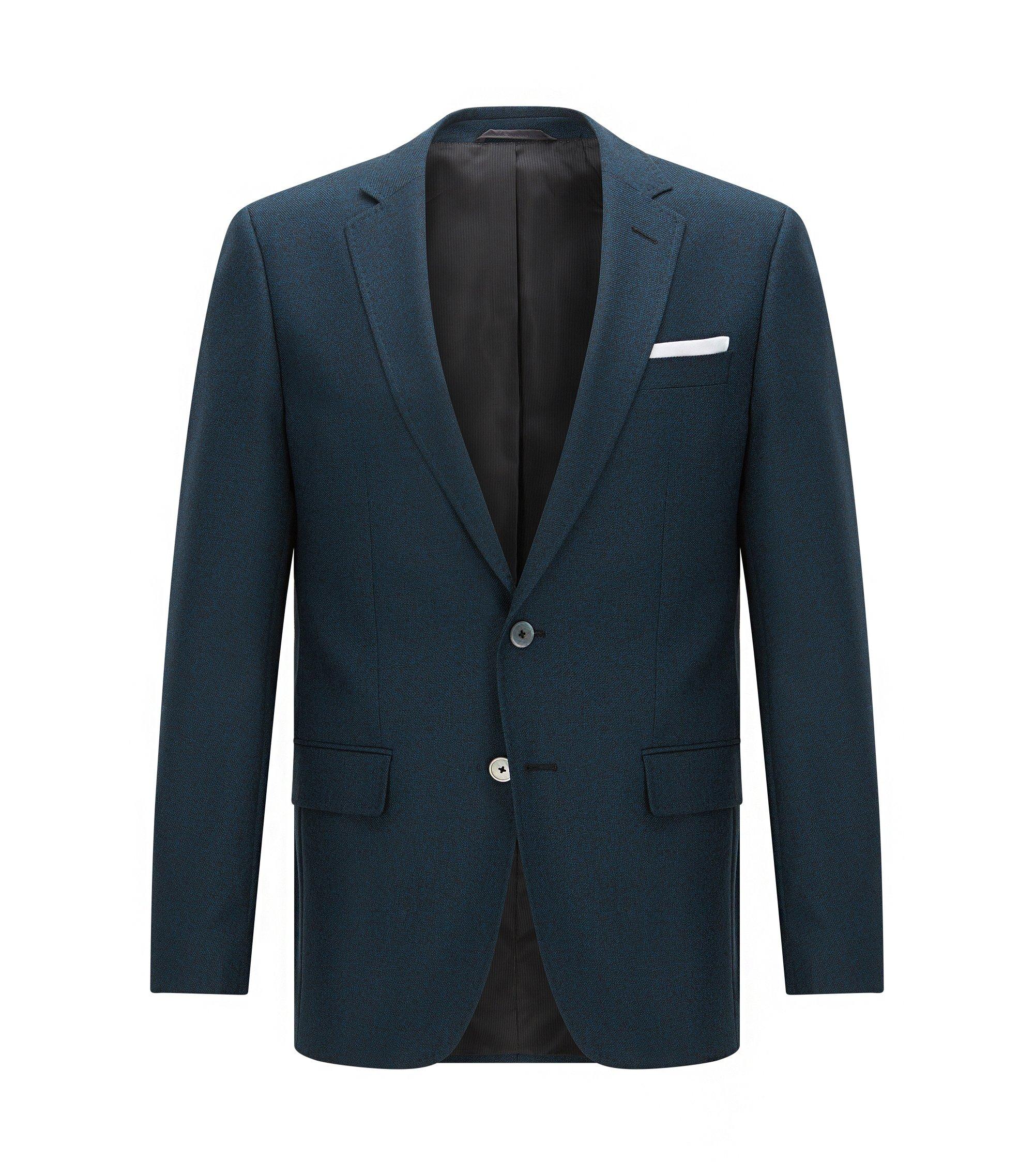 Virgin Wool Sport Coat, Slim Fit   Hutsons, Turquoise