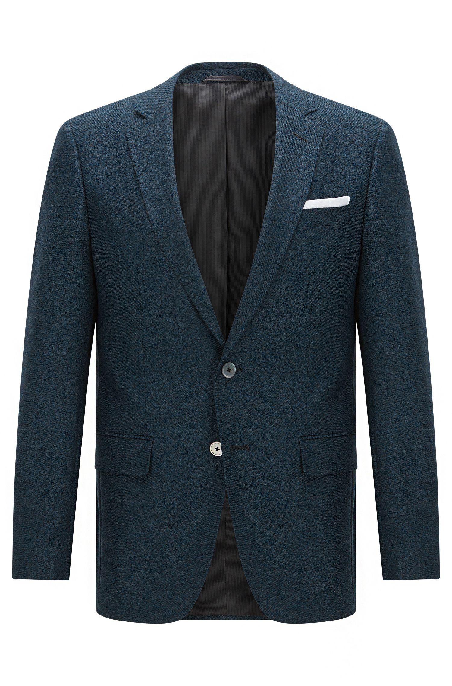 Virgin Wool Sport Coat, Slim Fit | Hutsons