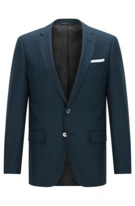 Virgin Wool Sport Coat, Slim Fit | Hutsons, Turquoise