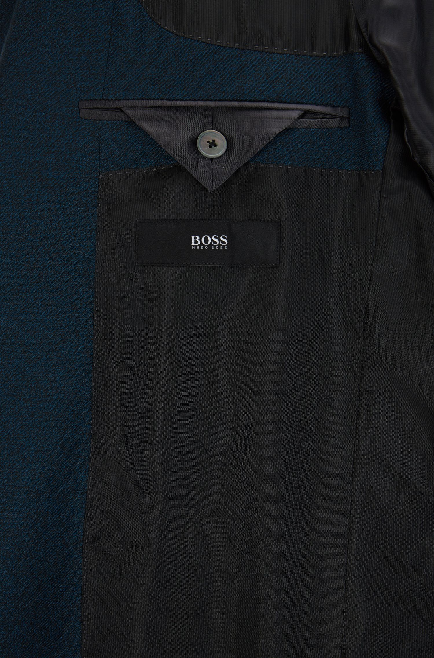 Virgin Wool Sport Coat, Slim Fit | Hutsons, Turquoise