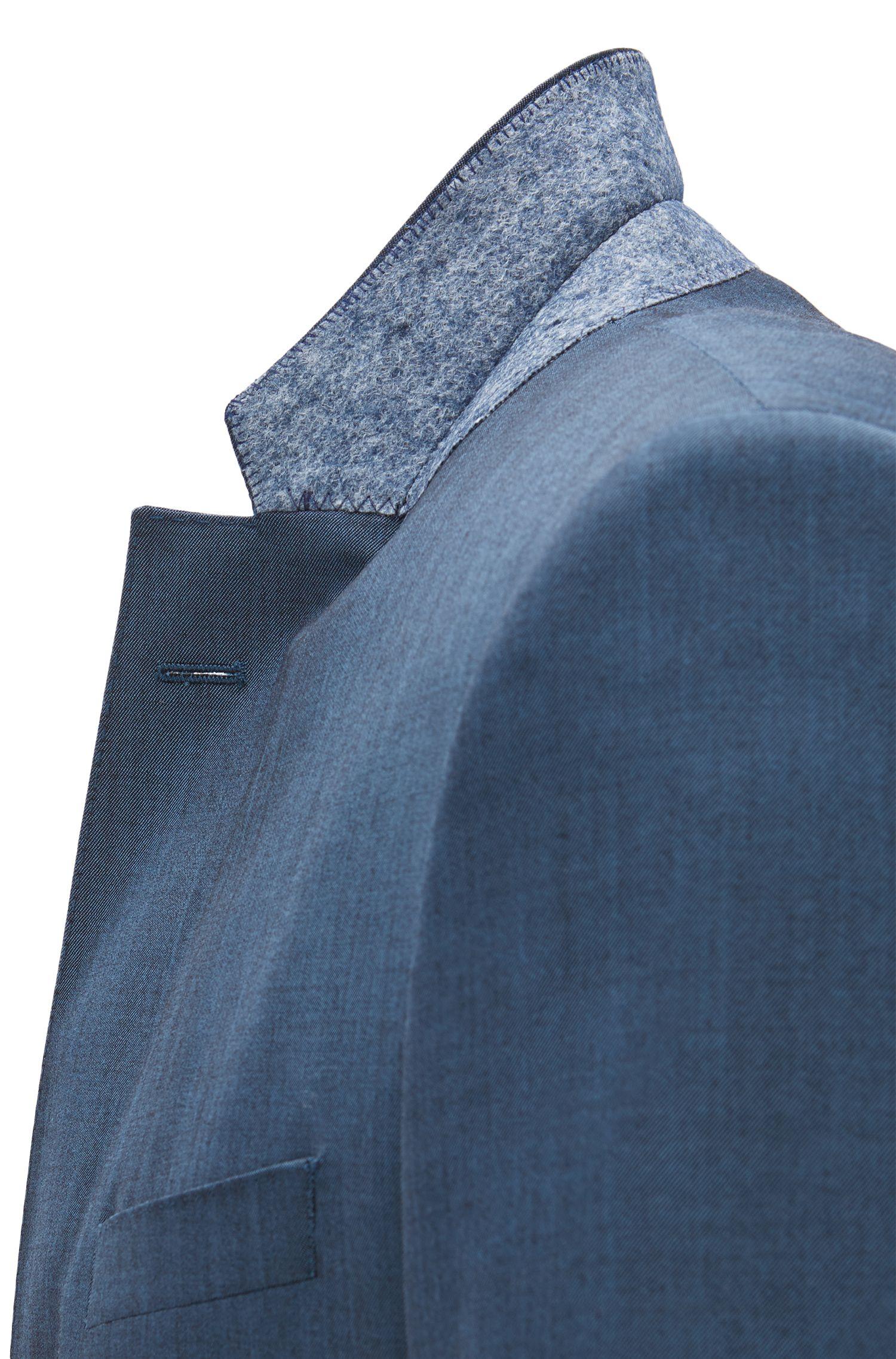Italian Virgin Wool Suit, Slim Fit | Huge/Genius, Turquoise