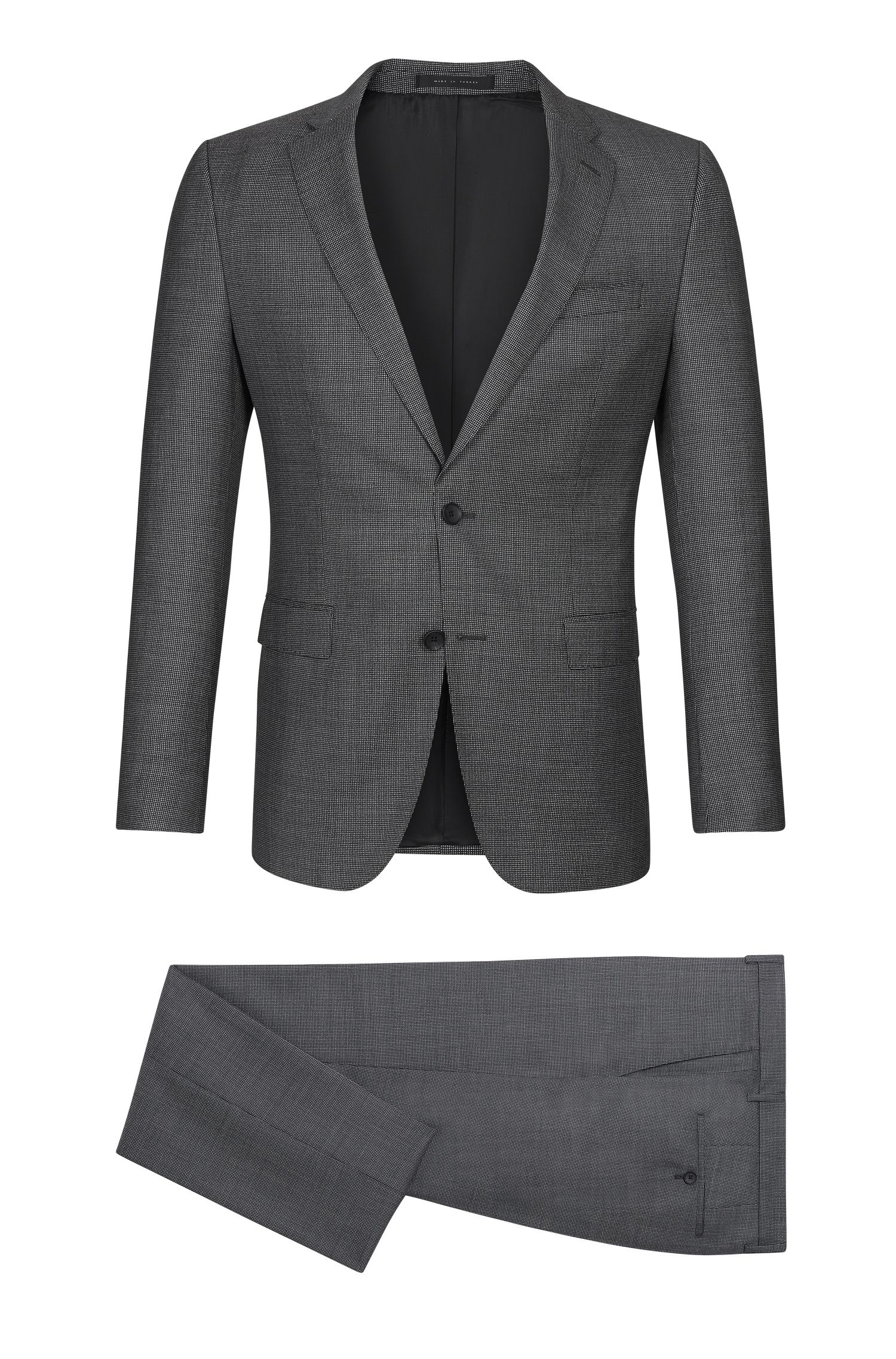 Virgin Wool Suit, Slim Fit | Novan/Ben