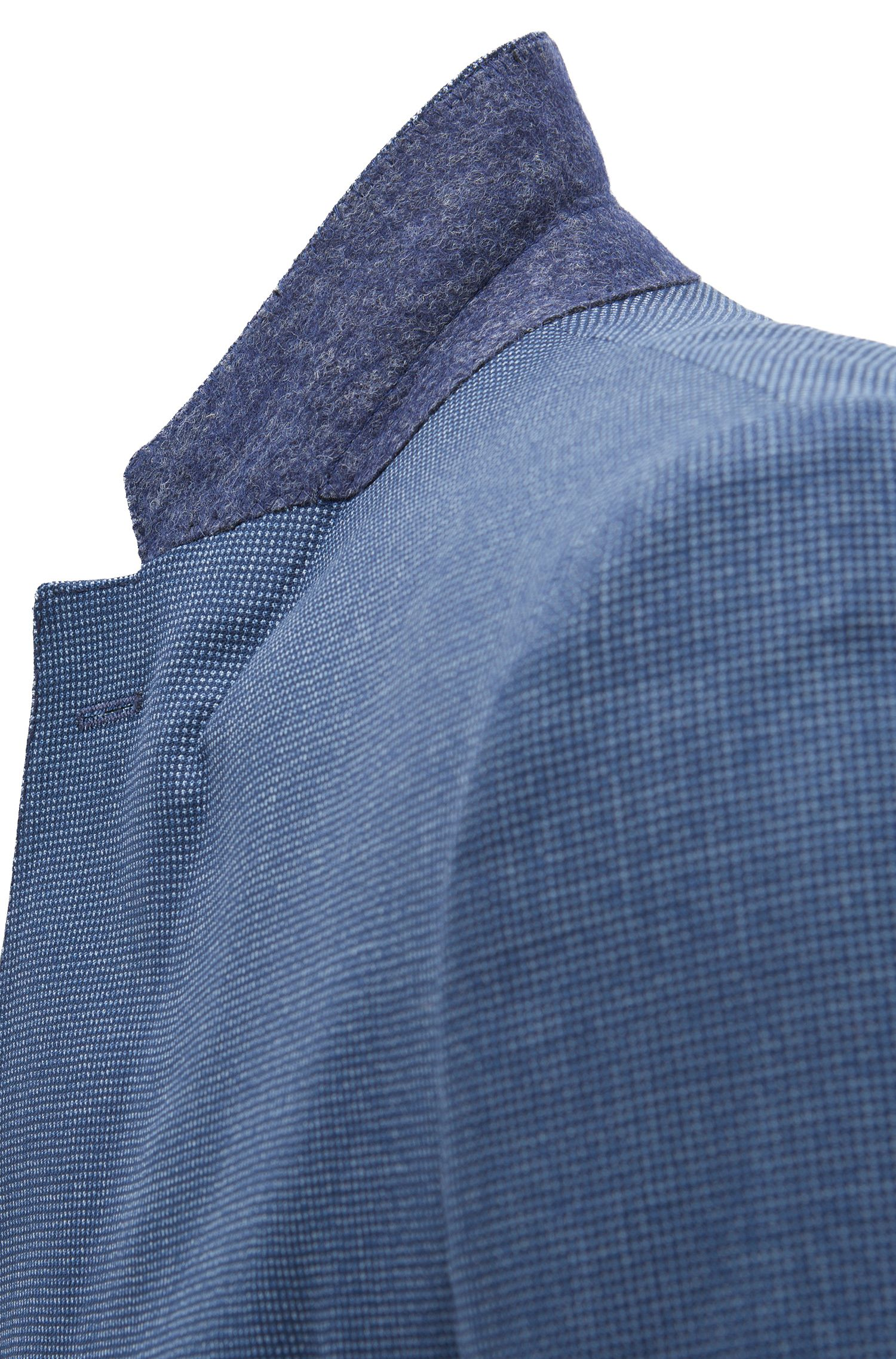 Virgin Wool Suit, Slim Fit | Novan/Ben, Open Blue