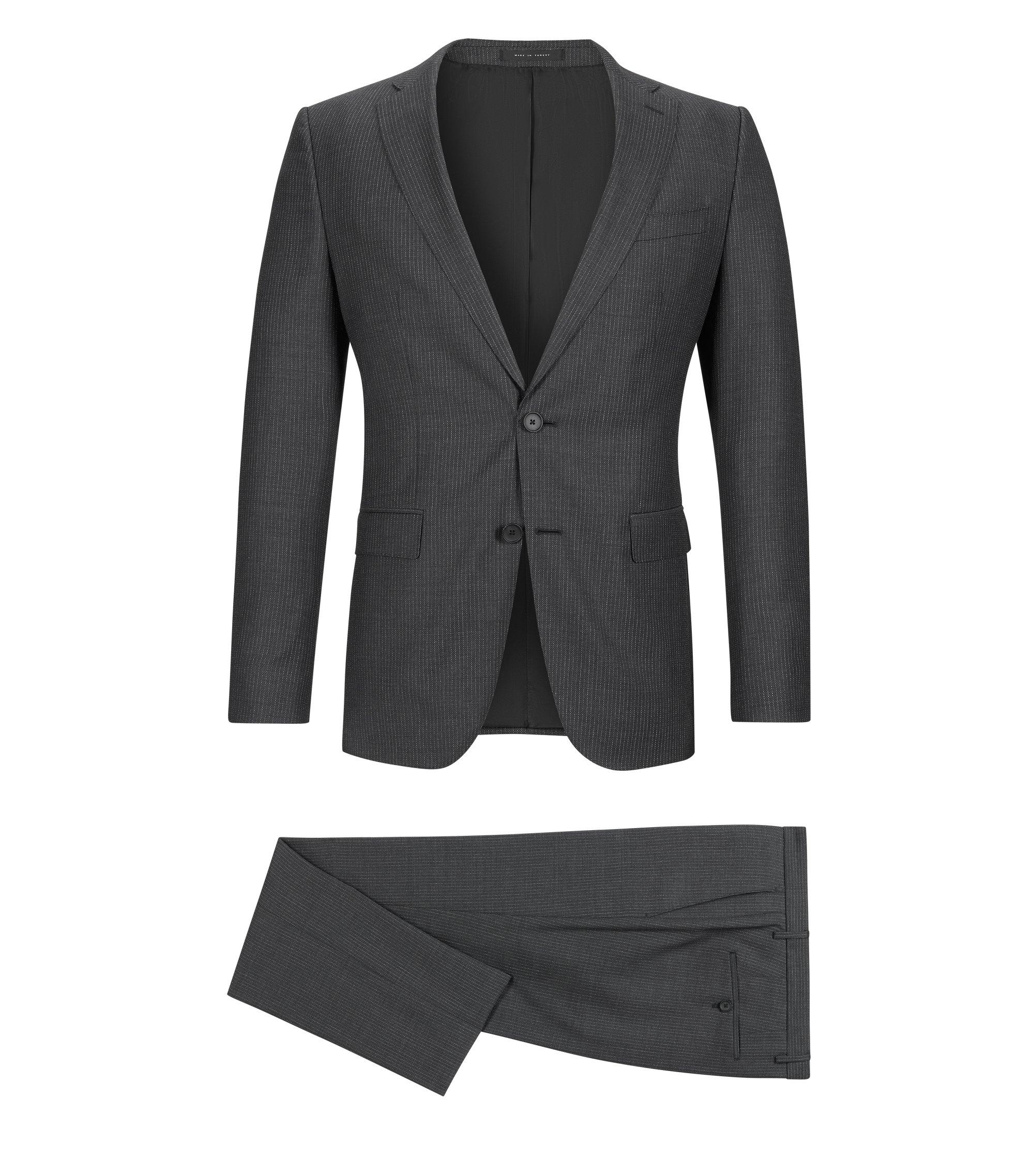 Italian Virgin Wool Suit, Slim Fit | Novan/Ben, Grey