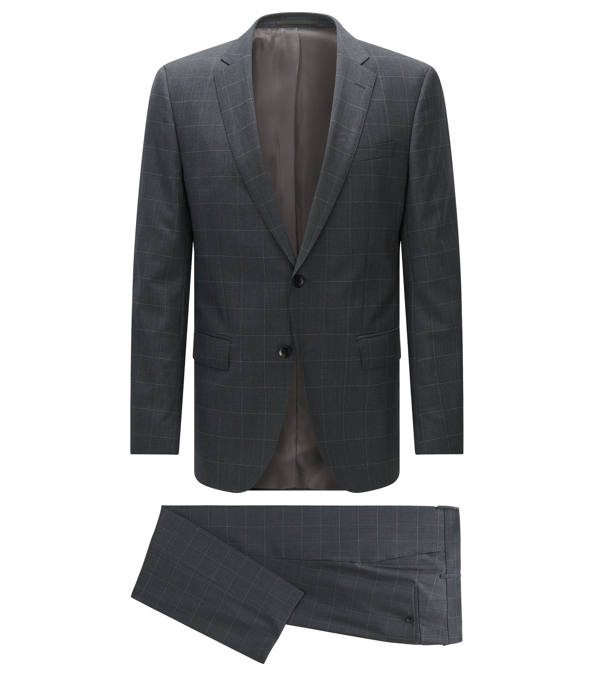 Italian Wool Suit, Slim Fit | Huge/Genius, Grey