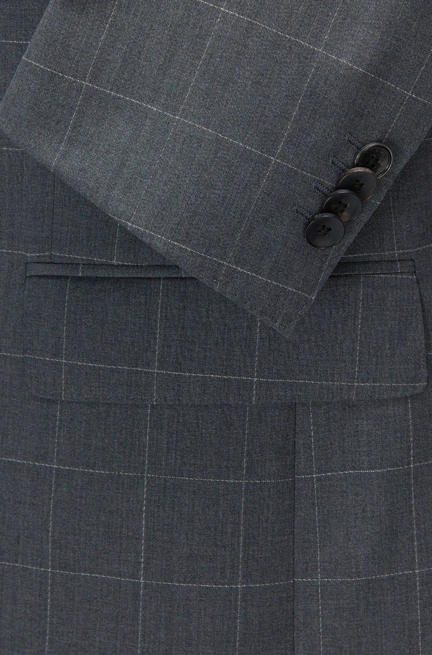 Italian Wool Suit, Slim Fit | Huge/Genius, Grey