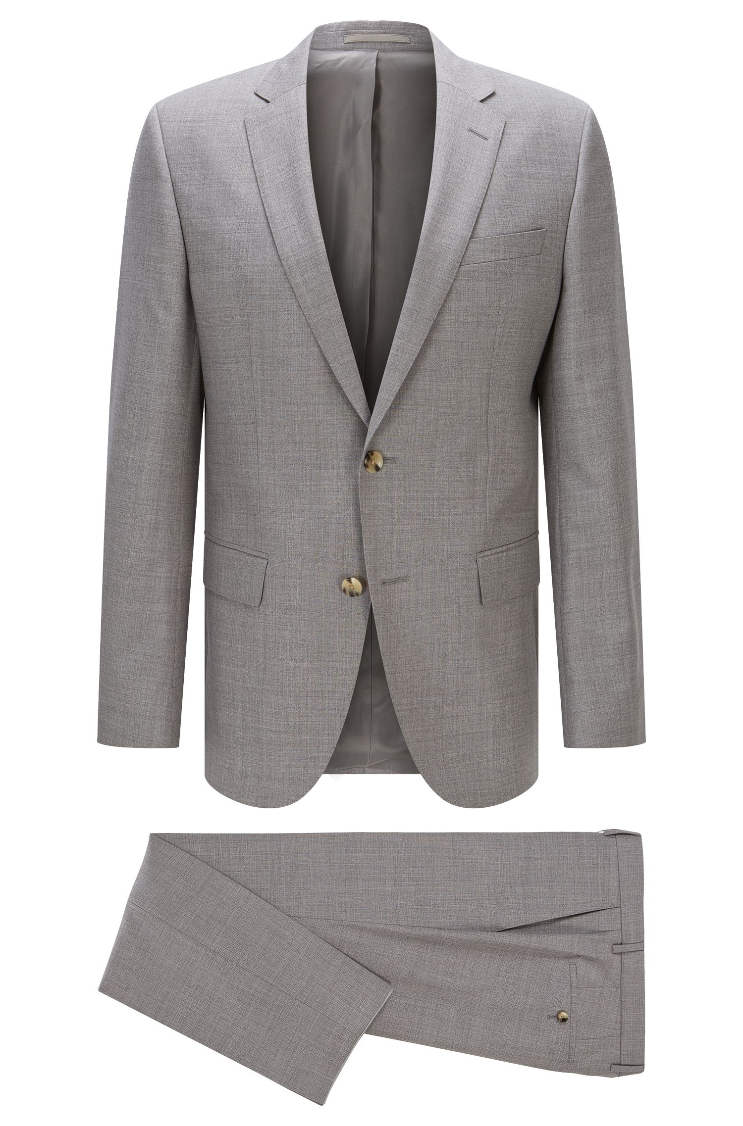 Italian Super 110 Virgin Wool Suit, Slim Fit | Huge/Genius