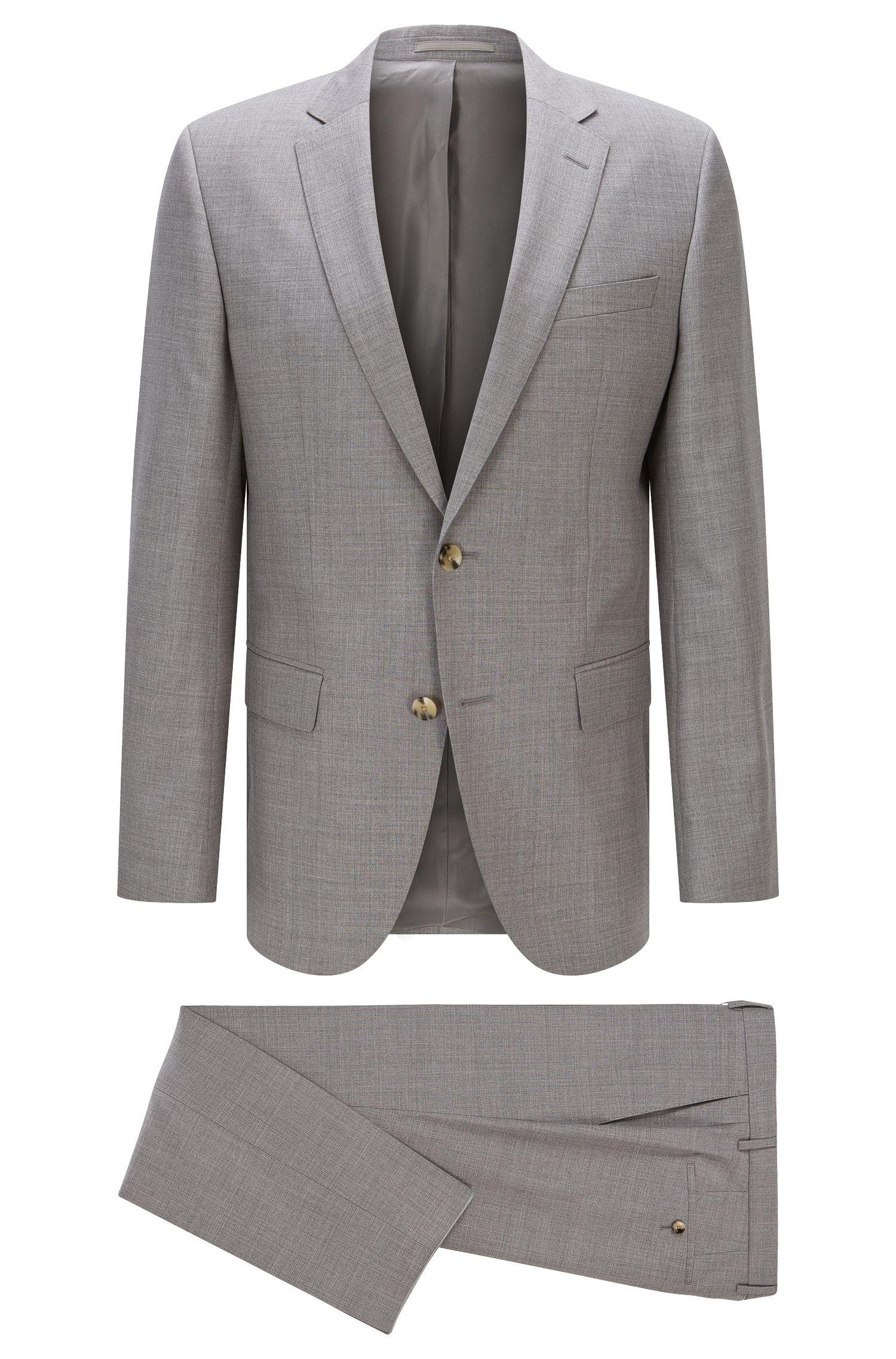Italian Super 110 Virgin Wool Suit, Slim Fit   Huge/Genius