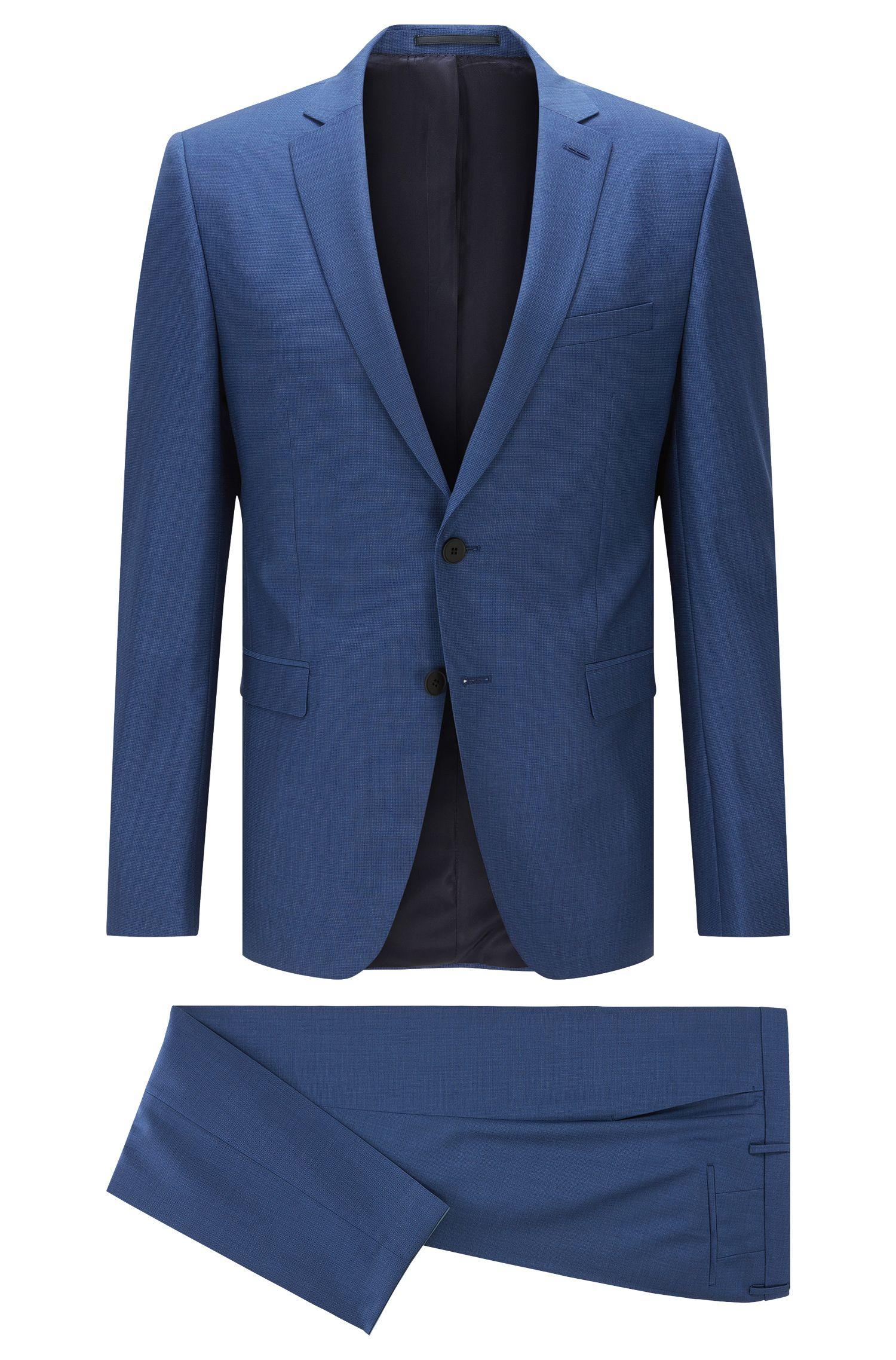 Sharkskin Super 100 Virgin Wool Suit, Extra Slim Fit | Reymond/Wenton