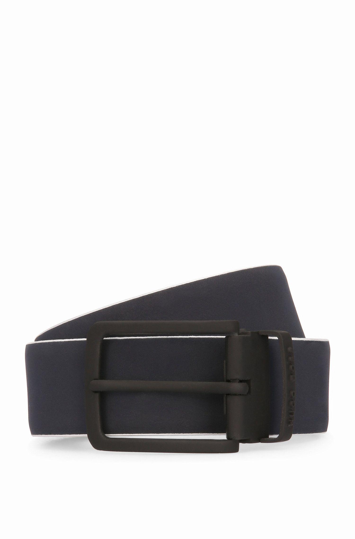 Leather Belt   Tobi Or35 PS, Dark Blue