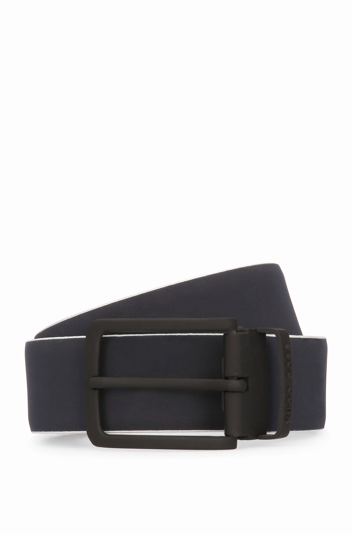 Leather Belt | Tobi Or35 PS, Dark Blue