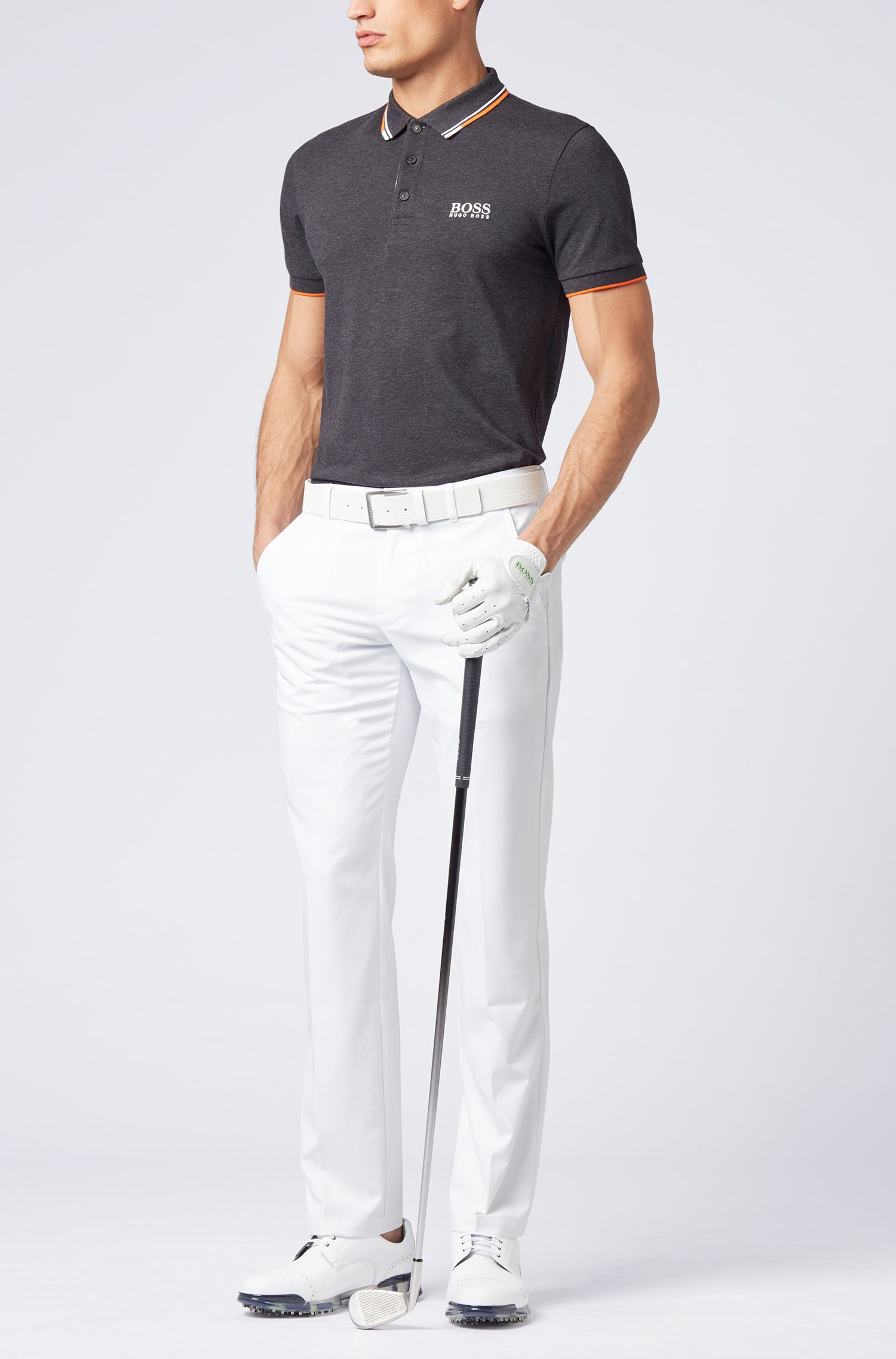 Slim-fit golf pants in technical twill