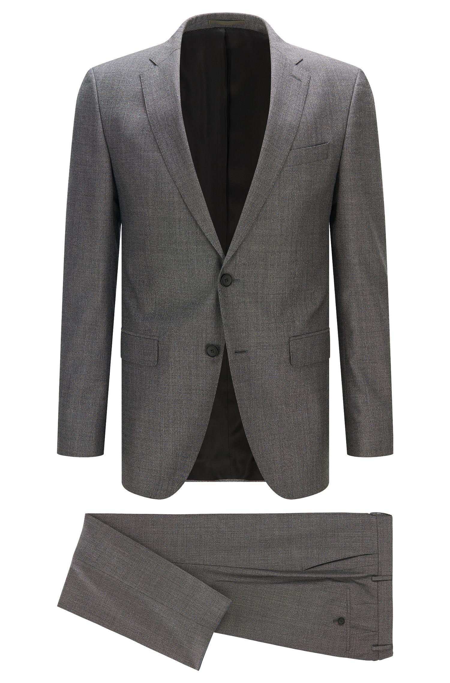 Virgin Wool Blend Suit, Slim Fit | Novan/Ben