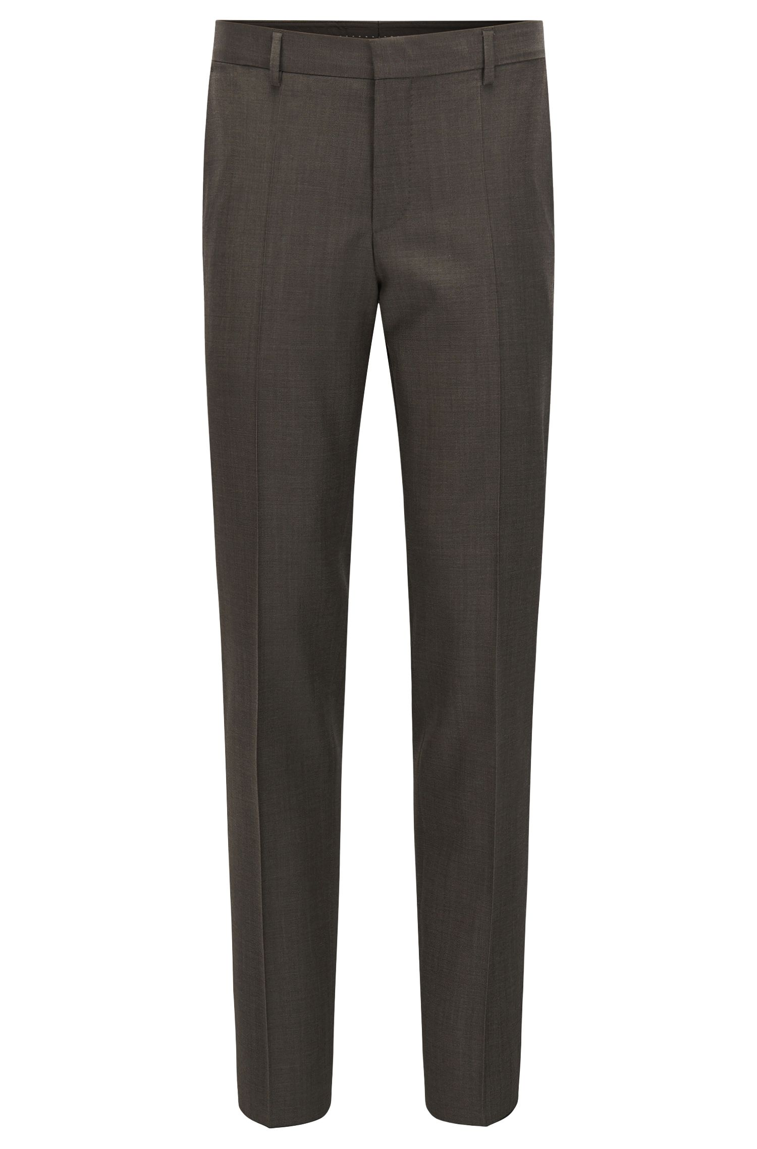 Virgin Wool Dress Pants, Slim Fit | Balte