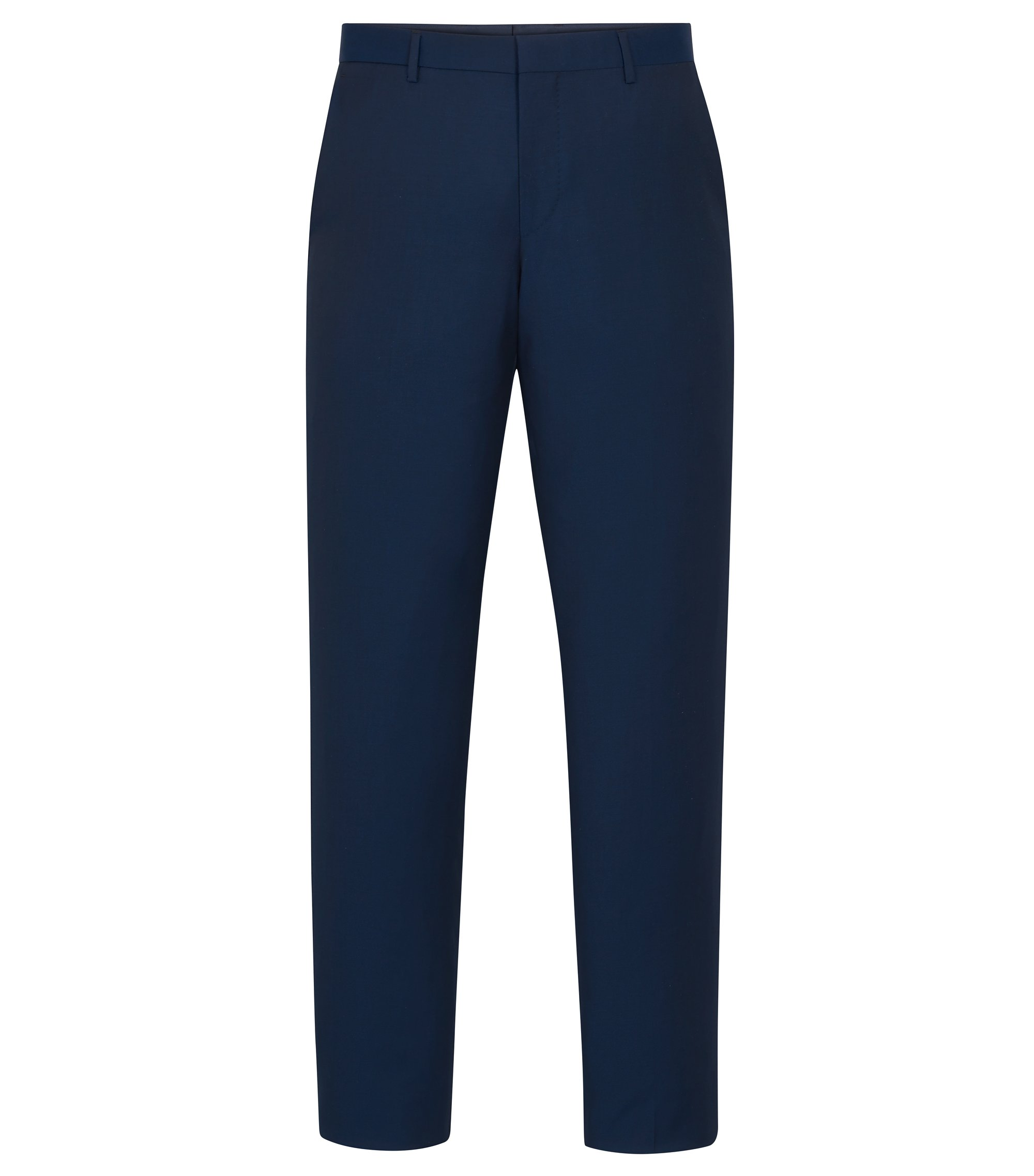 Virgin Wool Dress Pant, Slim Fit | Balte, Turquoise