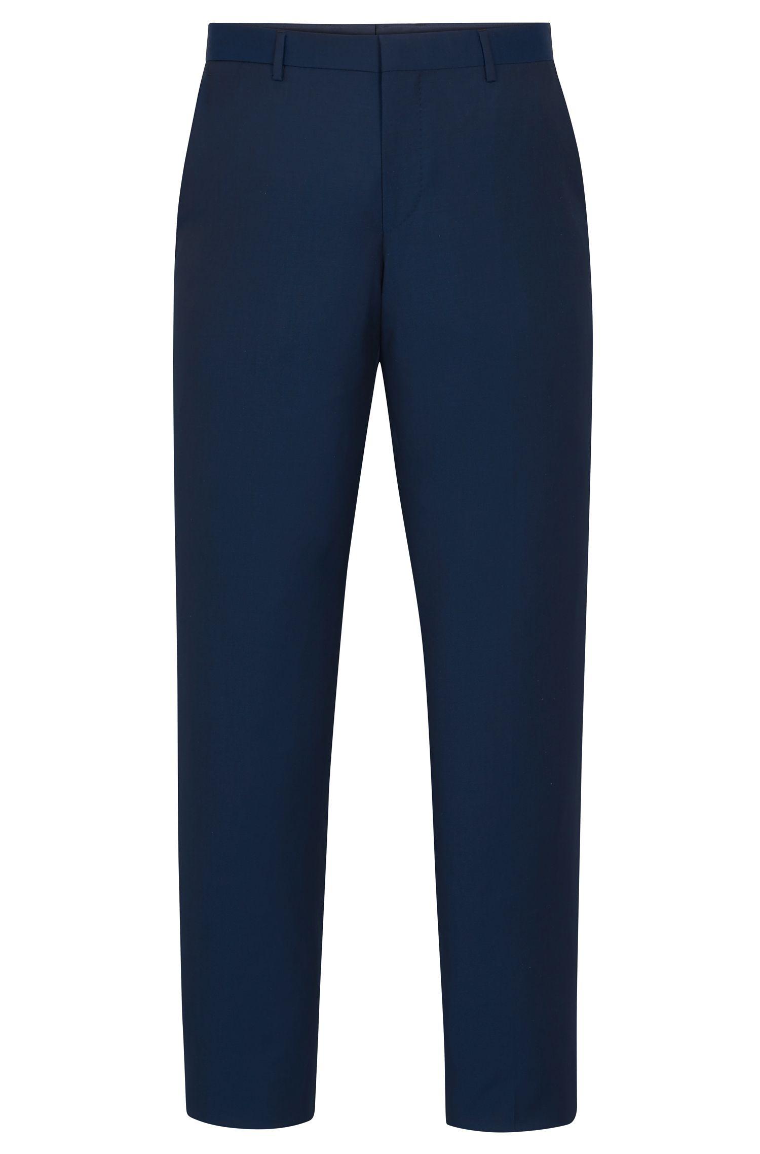 Virgin Wool Dress Pants, Slim Fit   Balte