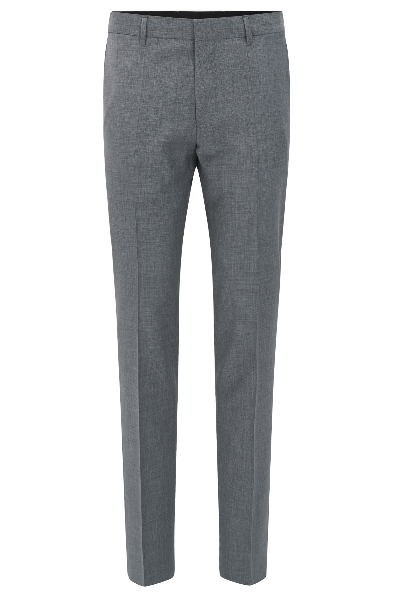 Virgin Wool Cashmere Dress Pant, Slim Fit | Genesis, Grey
