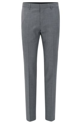 Virgin Wool Cashmere Dress Pant, Slim Fit | Genesis, Grey