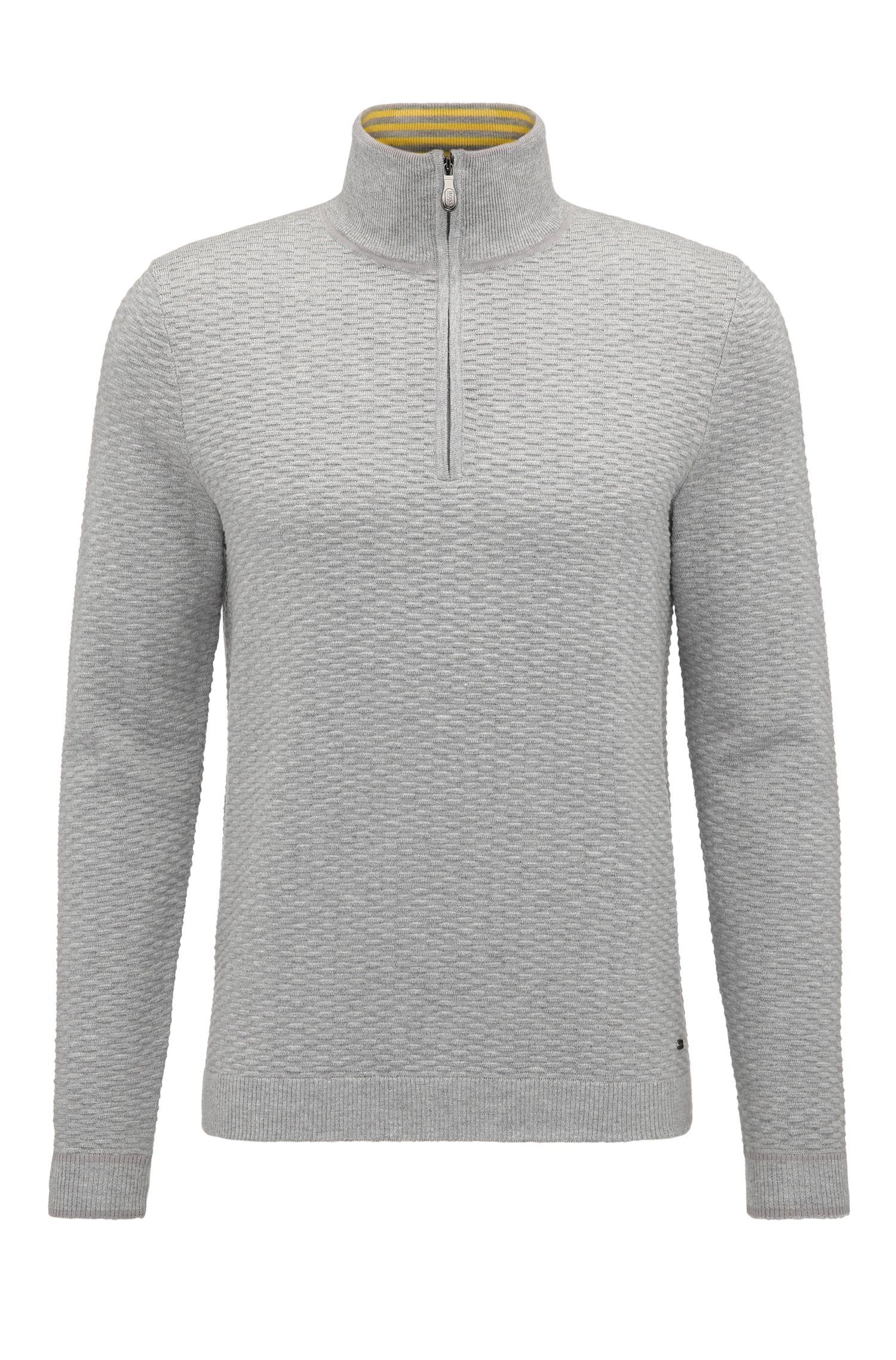 'Zote' | Dobby Stretch Cotton Sweater