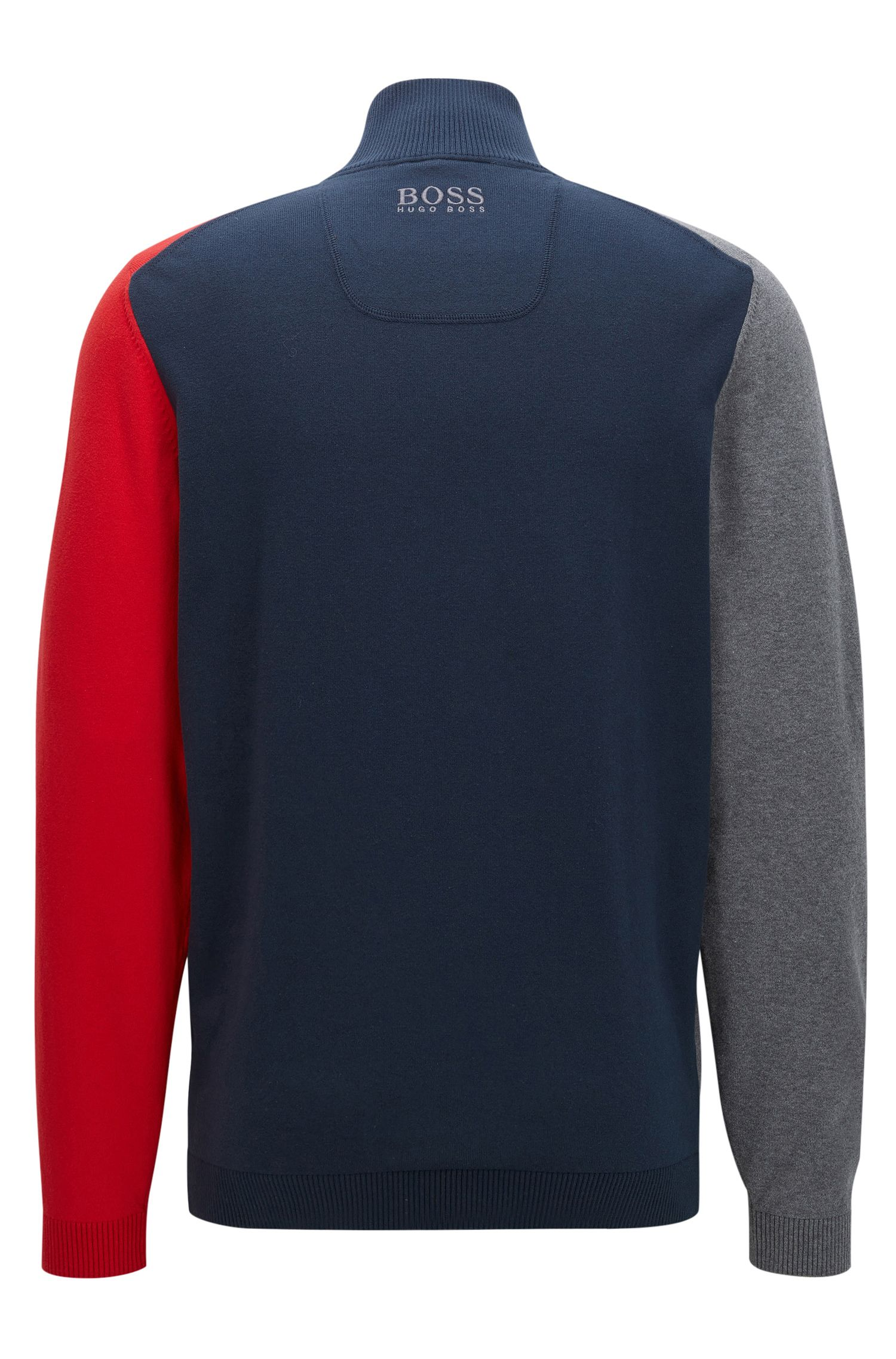 Colorblock Stretch Cotton Sweater | Zelchior Pro W17