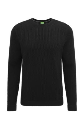 'Rater' | Cotton Blend Sweater, Black