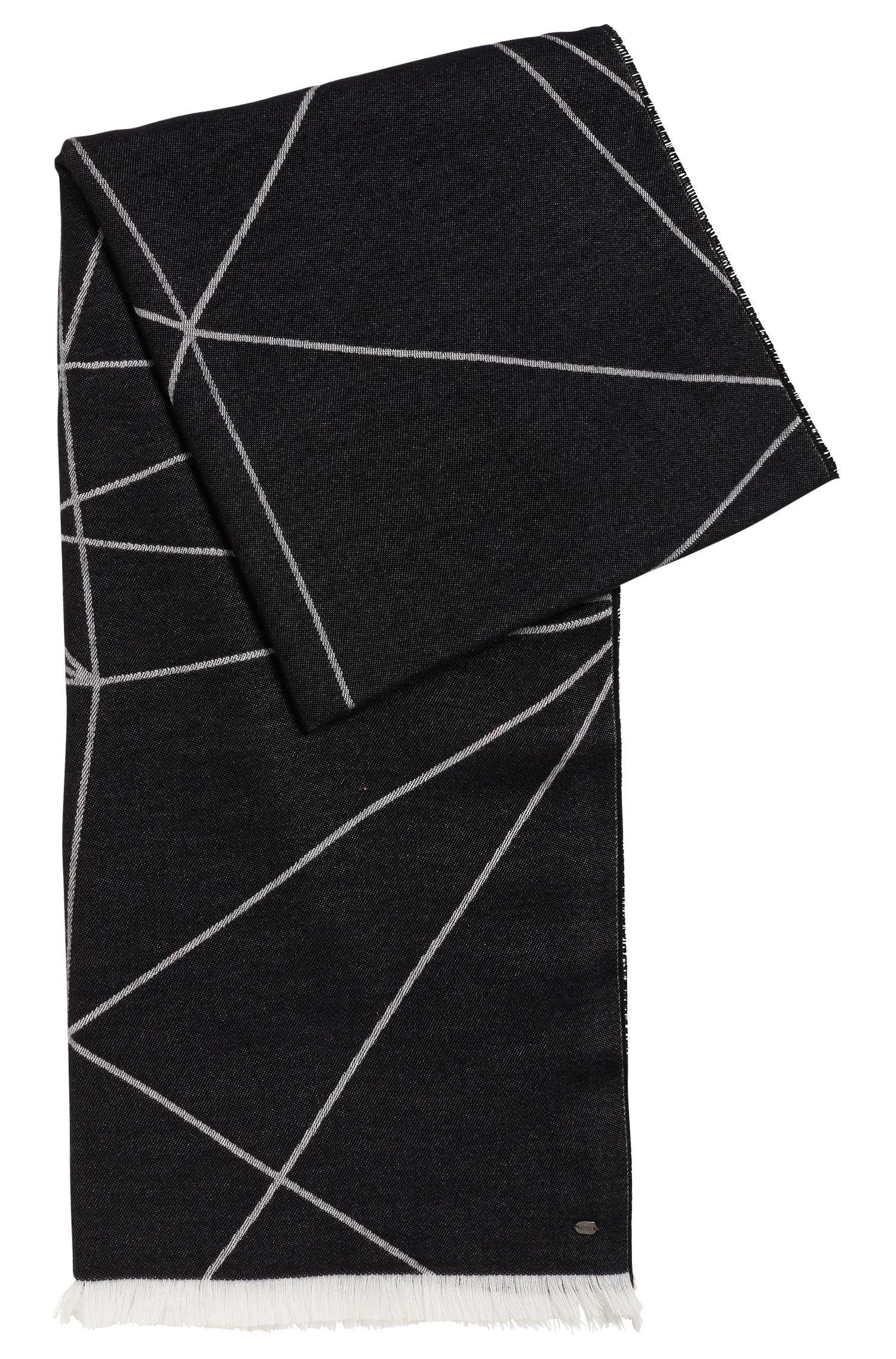 'Scarf Jacquard' | Geo-Print Stretch Cotton Scarf