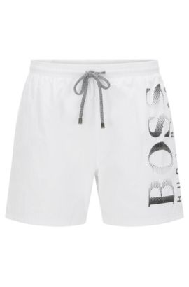 Quick Dry Swim Trunk | Octopus, White
