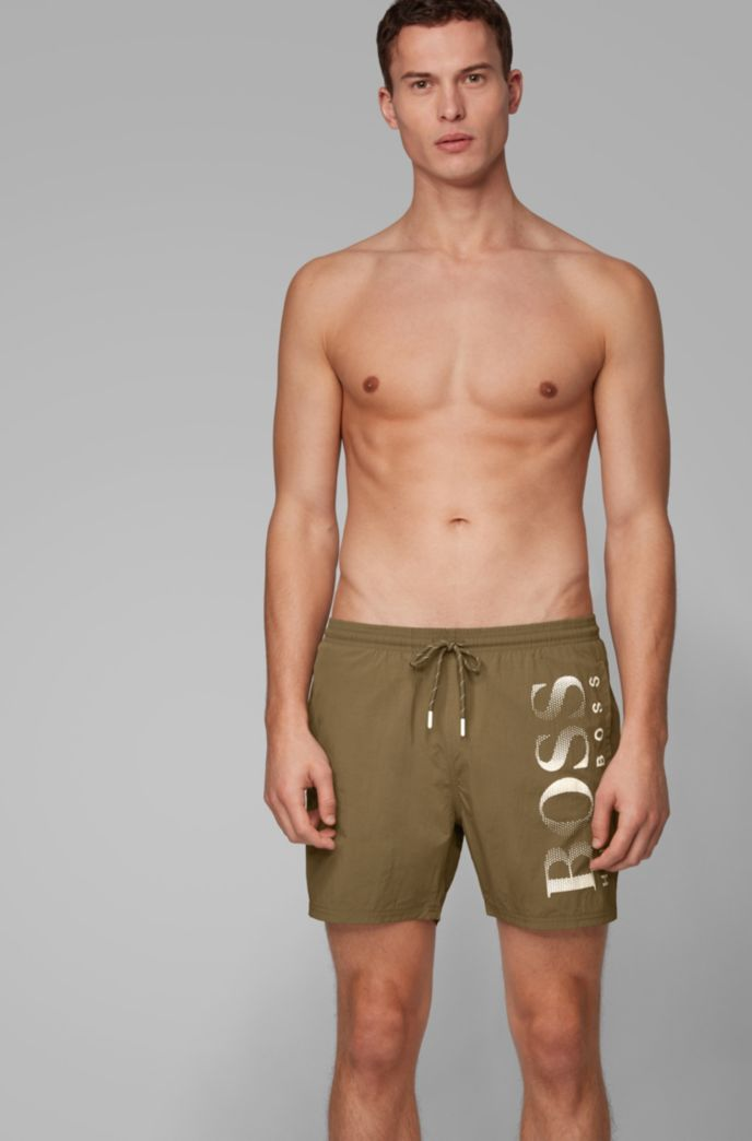 Logo-print swim shorts in technical fabric