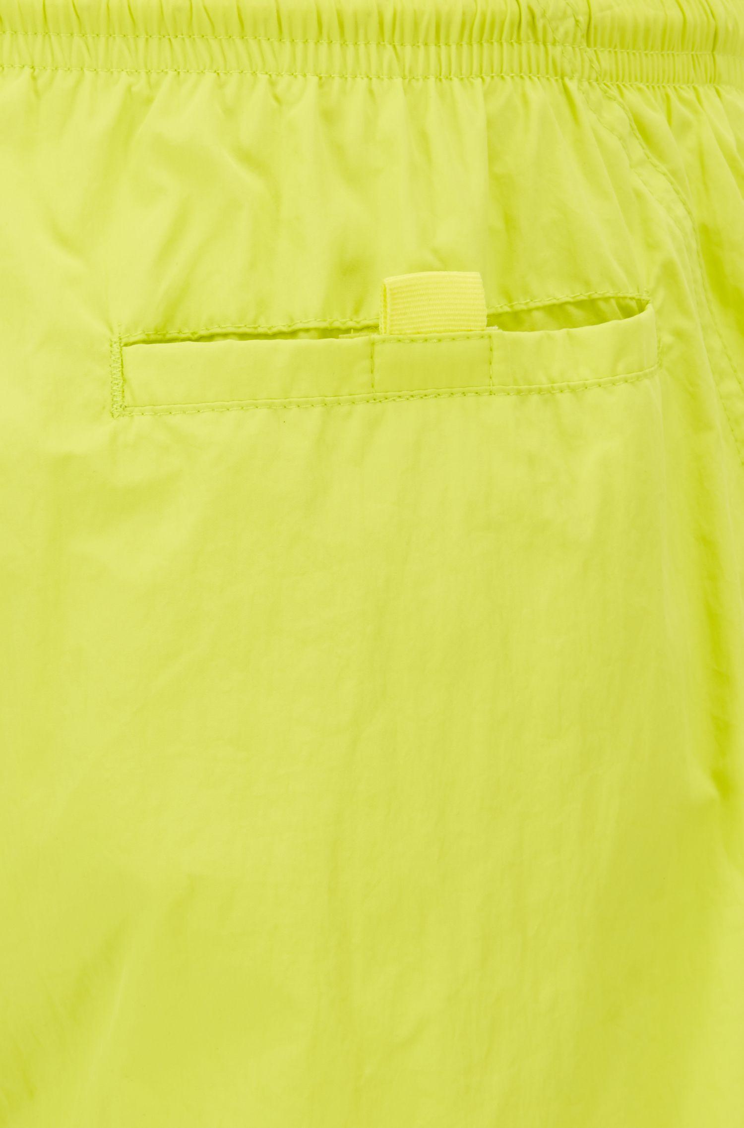 Logo-print swim shorts in technical fabric, Yellow