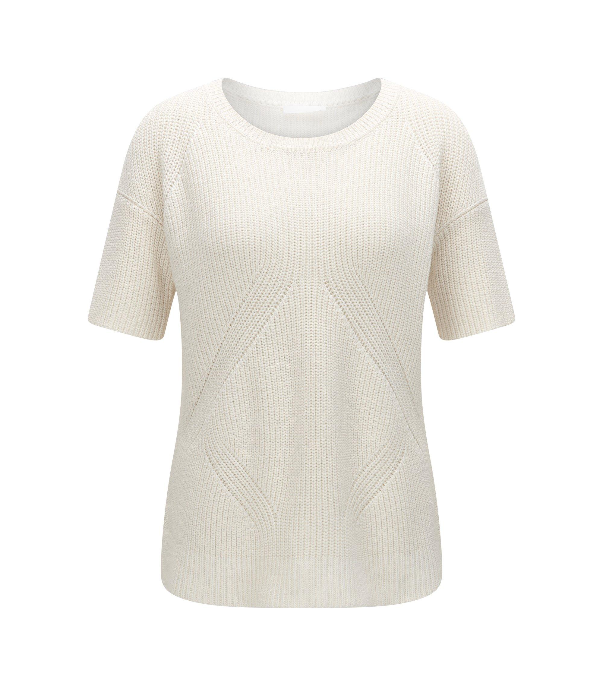 Cotton Silk Cashmere Knit Top | Fiola, Natural