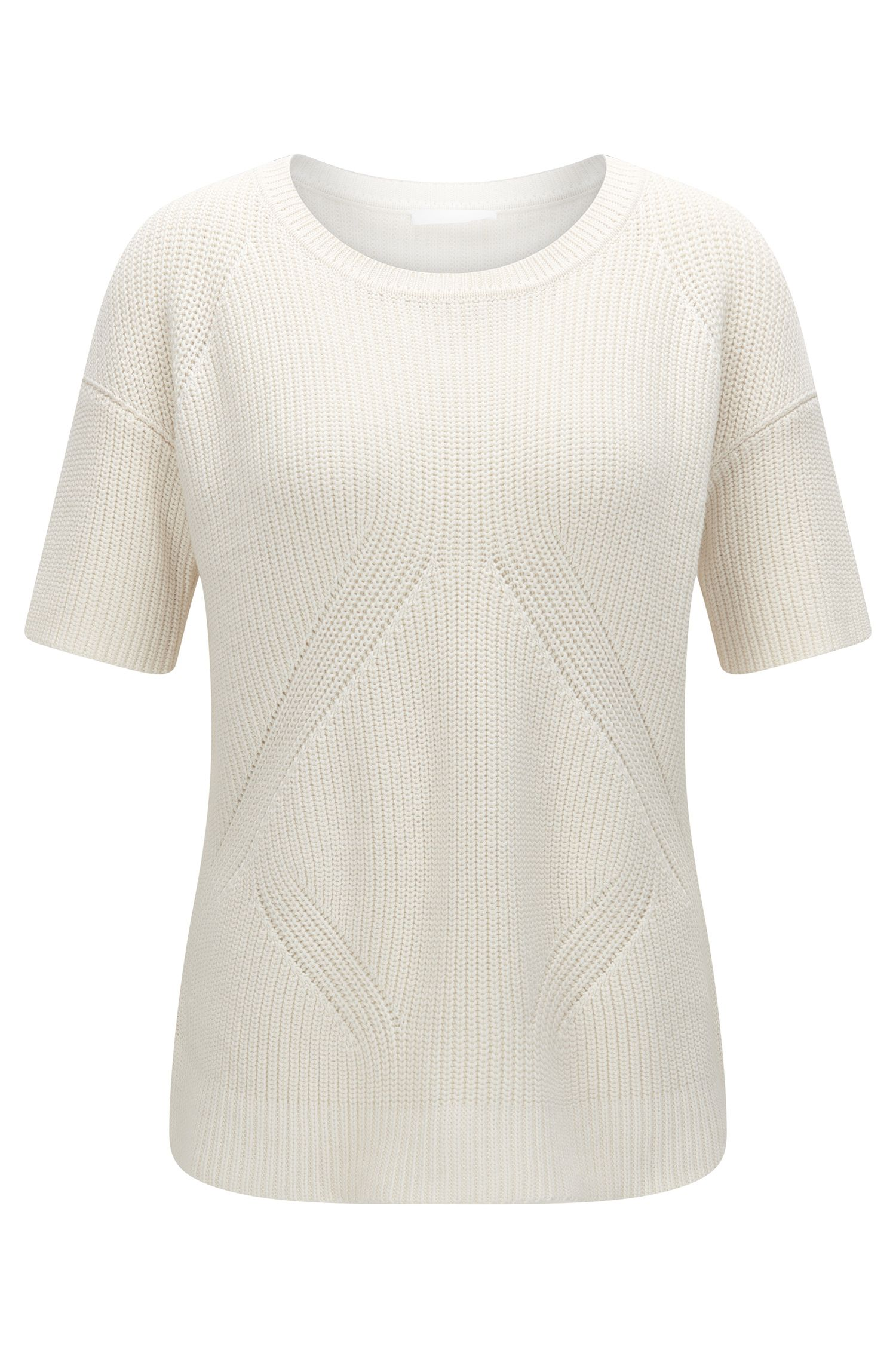 Cotton Silk Cashmere Knit Top | Fiola