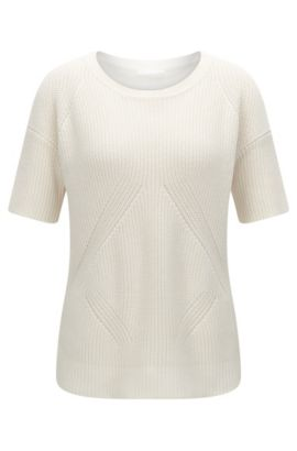 'Fiola' | Cotton Silk Cashmere Knit Top, Natural