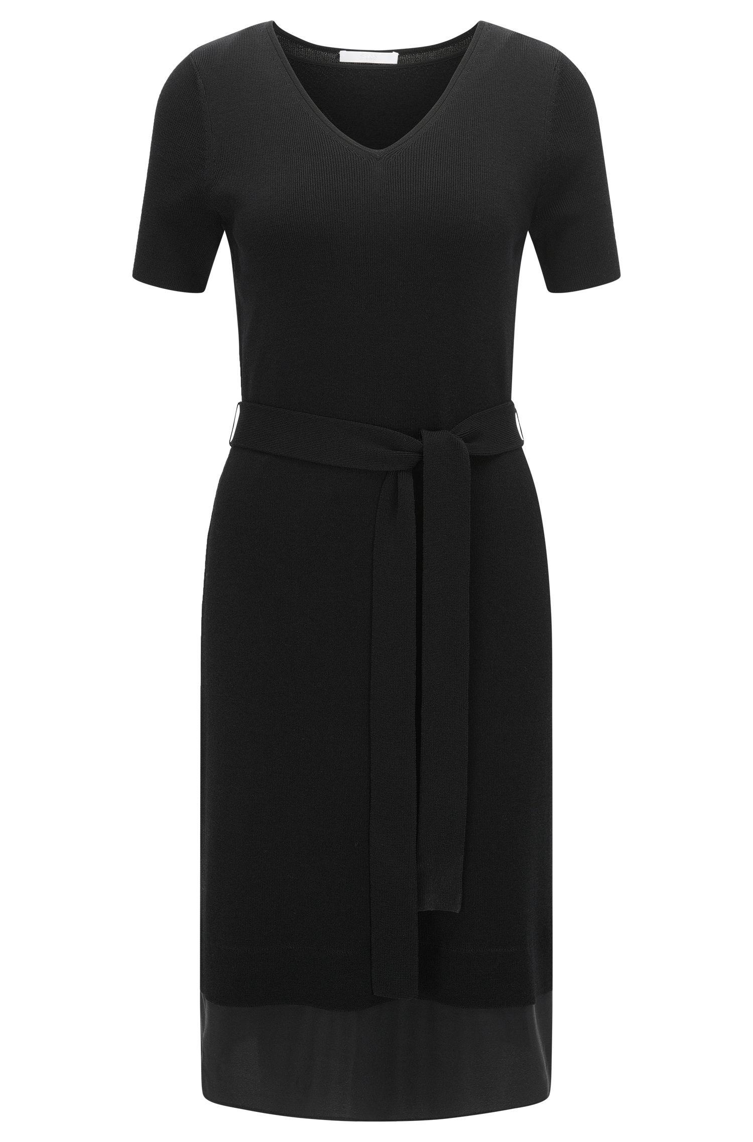 Stretch Cotton Knit Dress | Faia